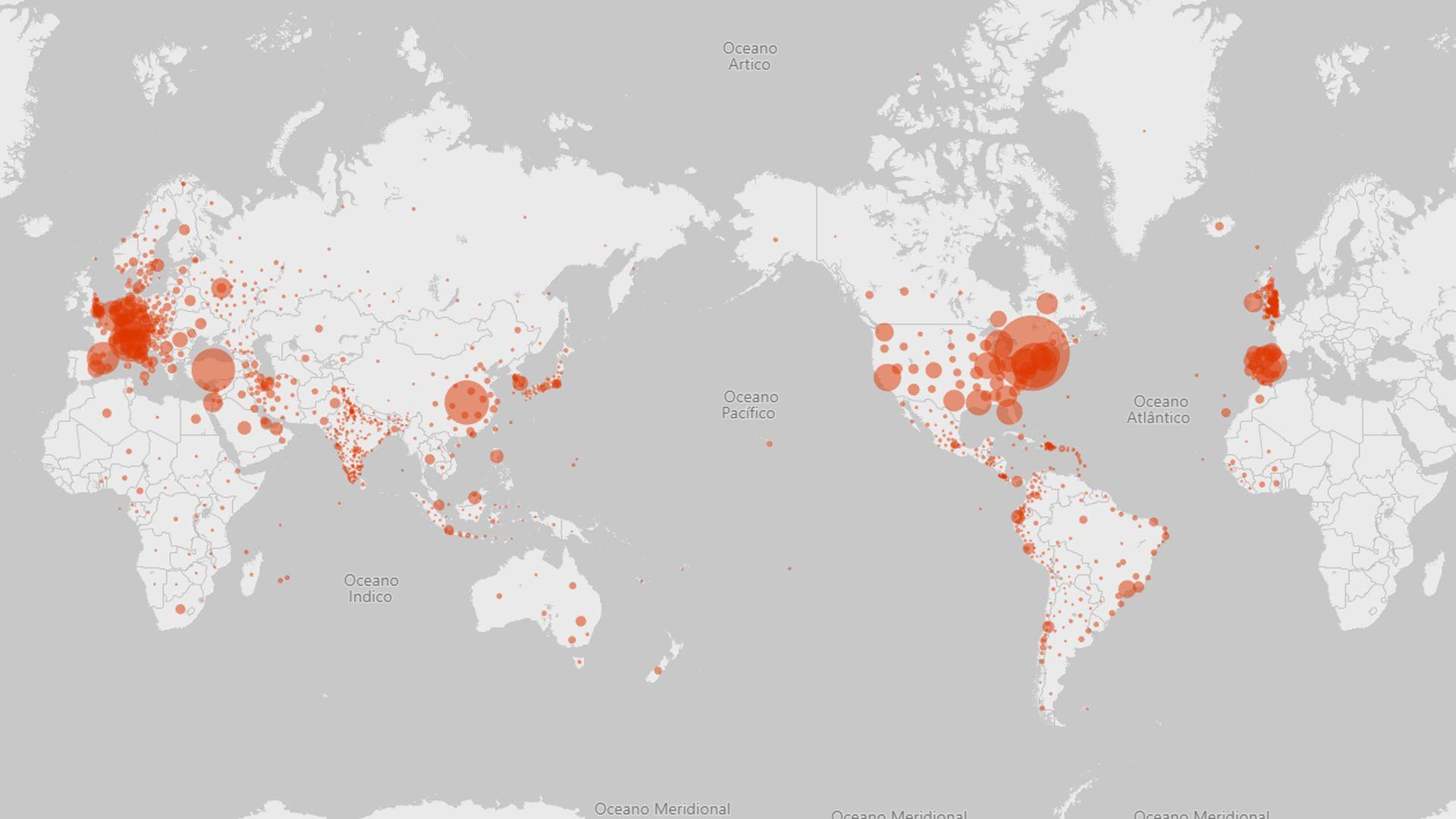 Como usar o mapa da Microsoft para ver casos de Covid-19 em tempo real