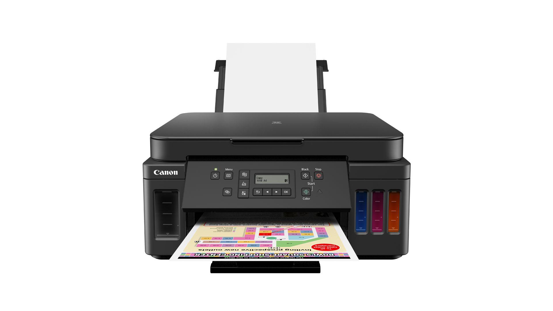 Mega Tank G6010 rende até 7.700 páginas coloridas e é compatível com o Apple AirPrint e com o Google Cloud Print (Foto: Divulgação/Canon)