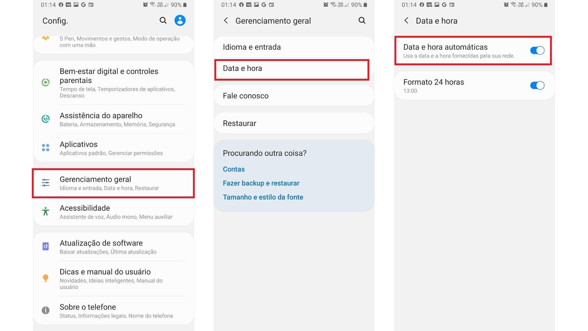 Chromecast não conecta no wi-fi? Tente ajustar a data e a hora do smartphone. | Foto: Roberto Caligari/Zoom