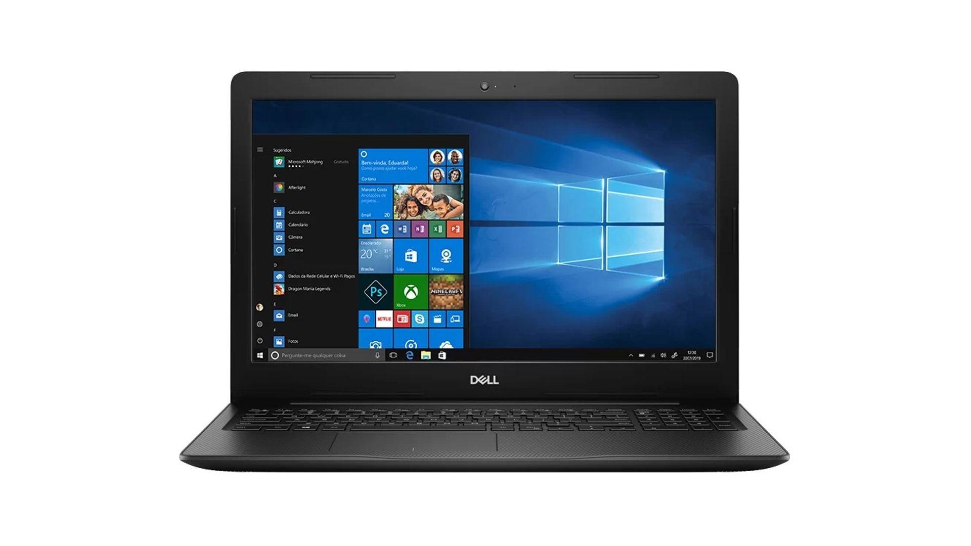 Tela do notebook de 15,6 polegadas promete imagens brilhante em resolução HD (Foto: Divulgação/Dell)