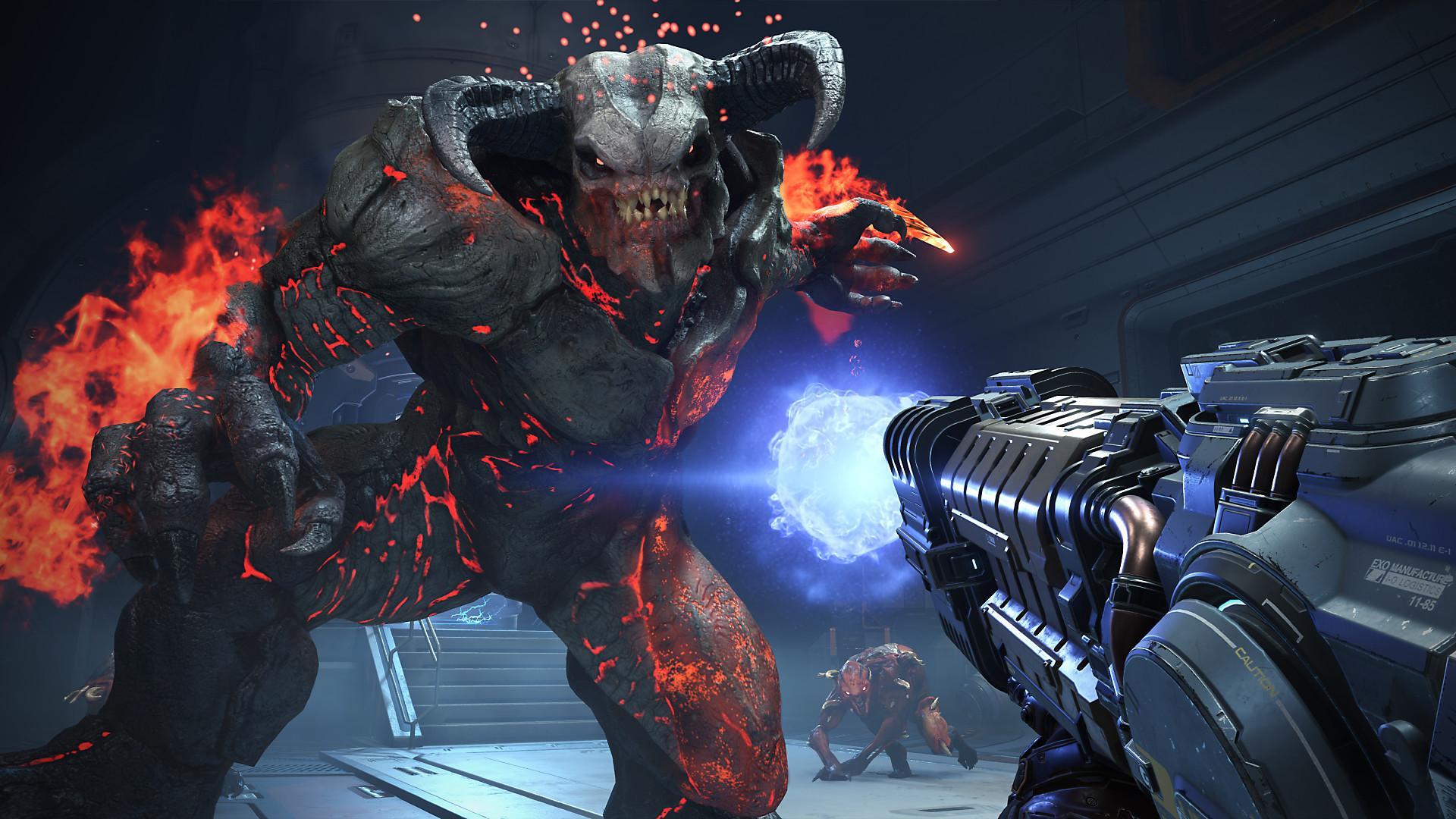 Jogo de tiro tem demônios para destruir usando vários tipos de armas. (Divulgação/Bethesda)