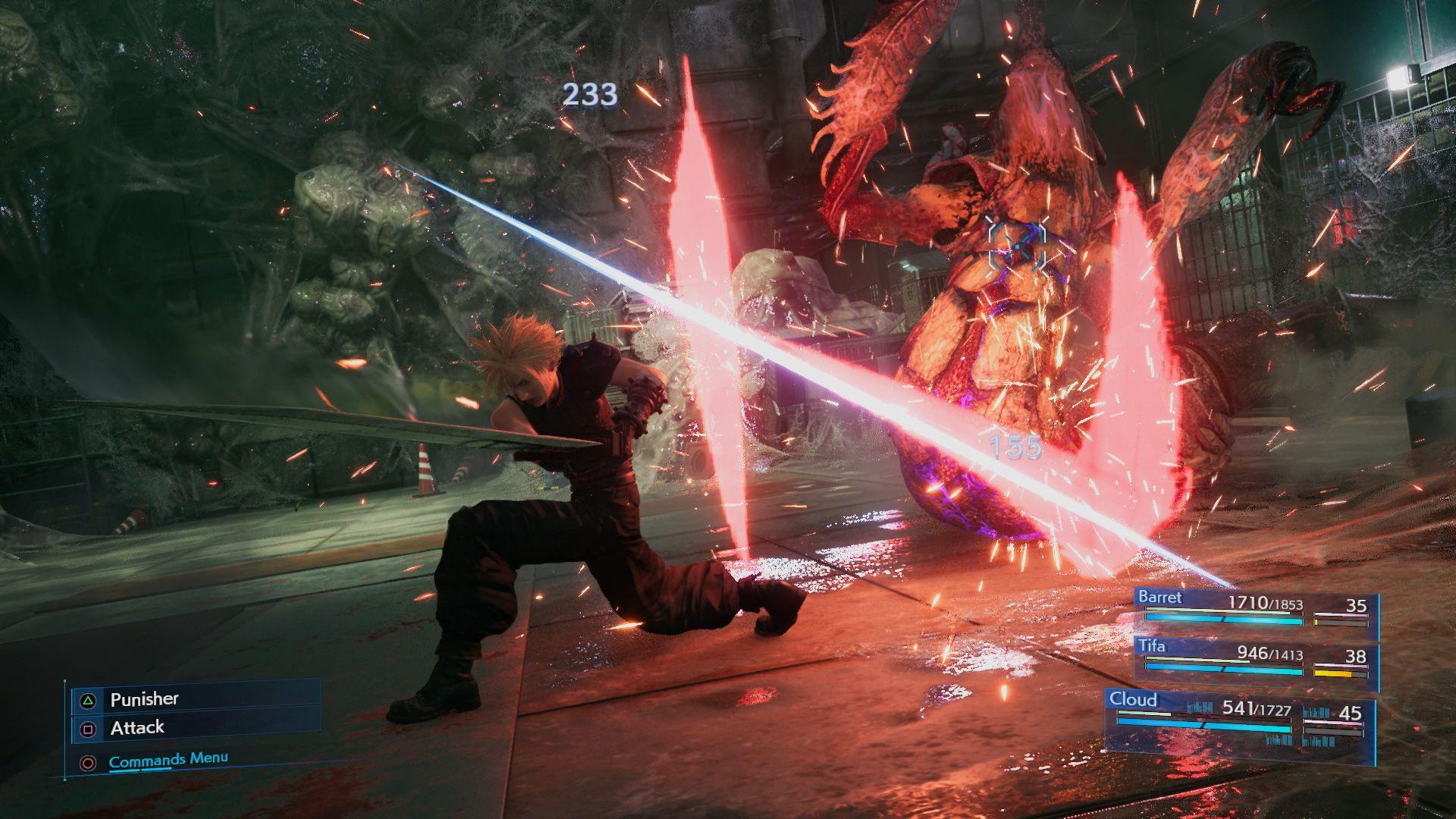 Final Fantasy 7 Remake tem combate com muita ação. (Foto: Divulgação/Square Enix)