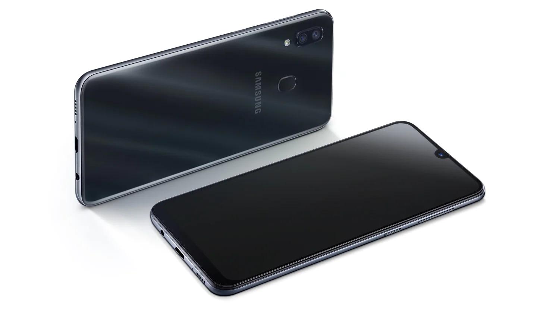 Galaxy A30 tem notch em formato de gota. (Imagem: Divulgação/Samsung)