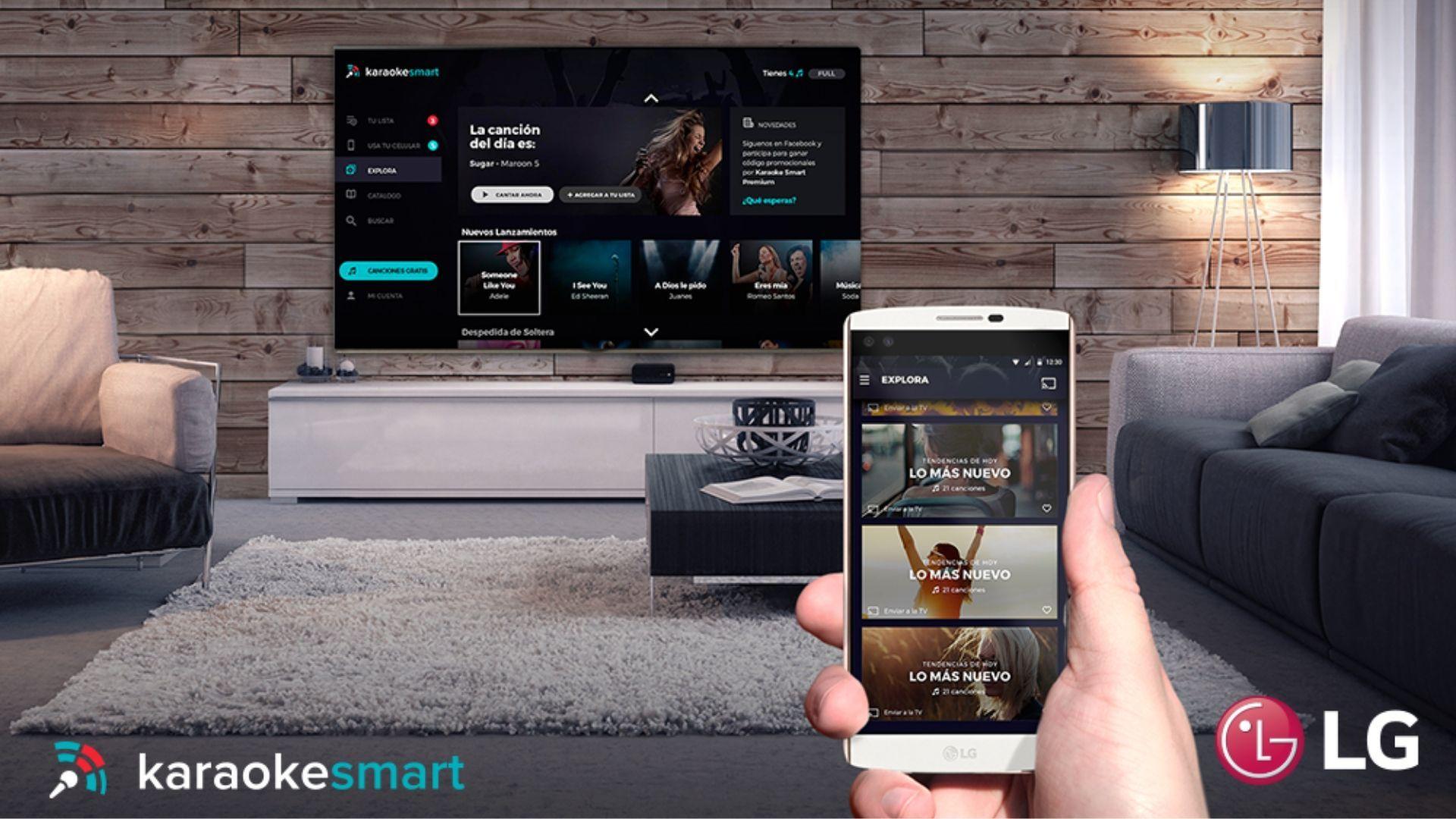 Na smart TV da LG é possível montar uma playlist e soltar o gogó | Divulgação: LG