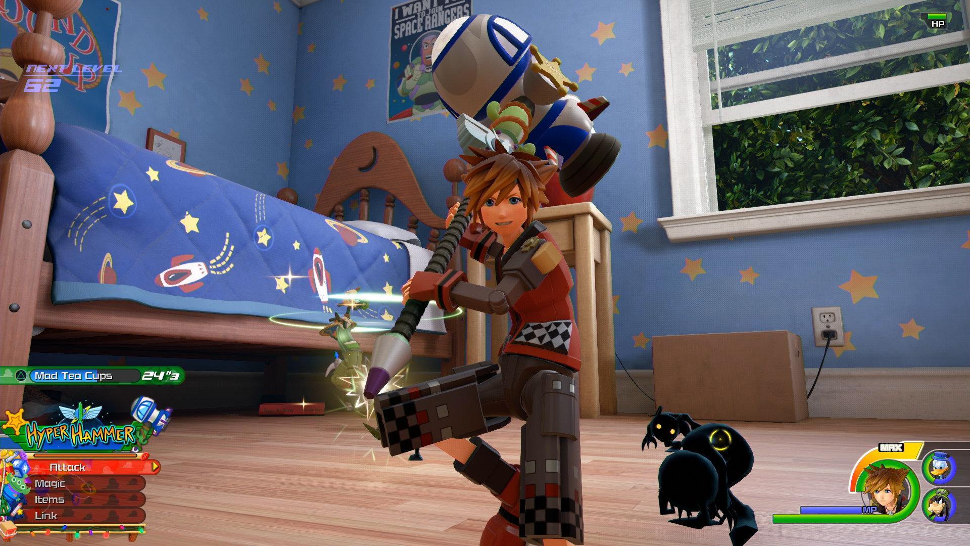 Kingdom Hearts 3 traz os heróis conhecidos da franquia, como Sora e Riku, e personagens famosos da Disney Pixar. (Foto: Divulgação/Square Enix)