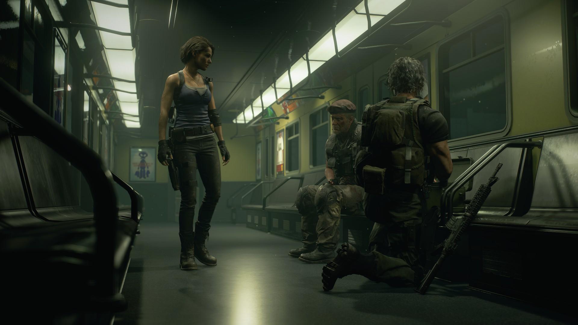 Em Resident Evil 3 Remake Jill Valentine precisa escapar do monstro Nemesis. (Foto: Divulgação/Capcom)
