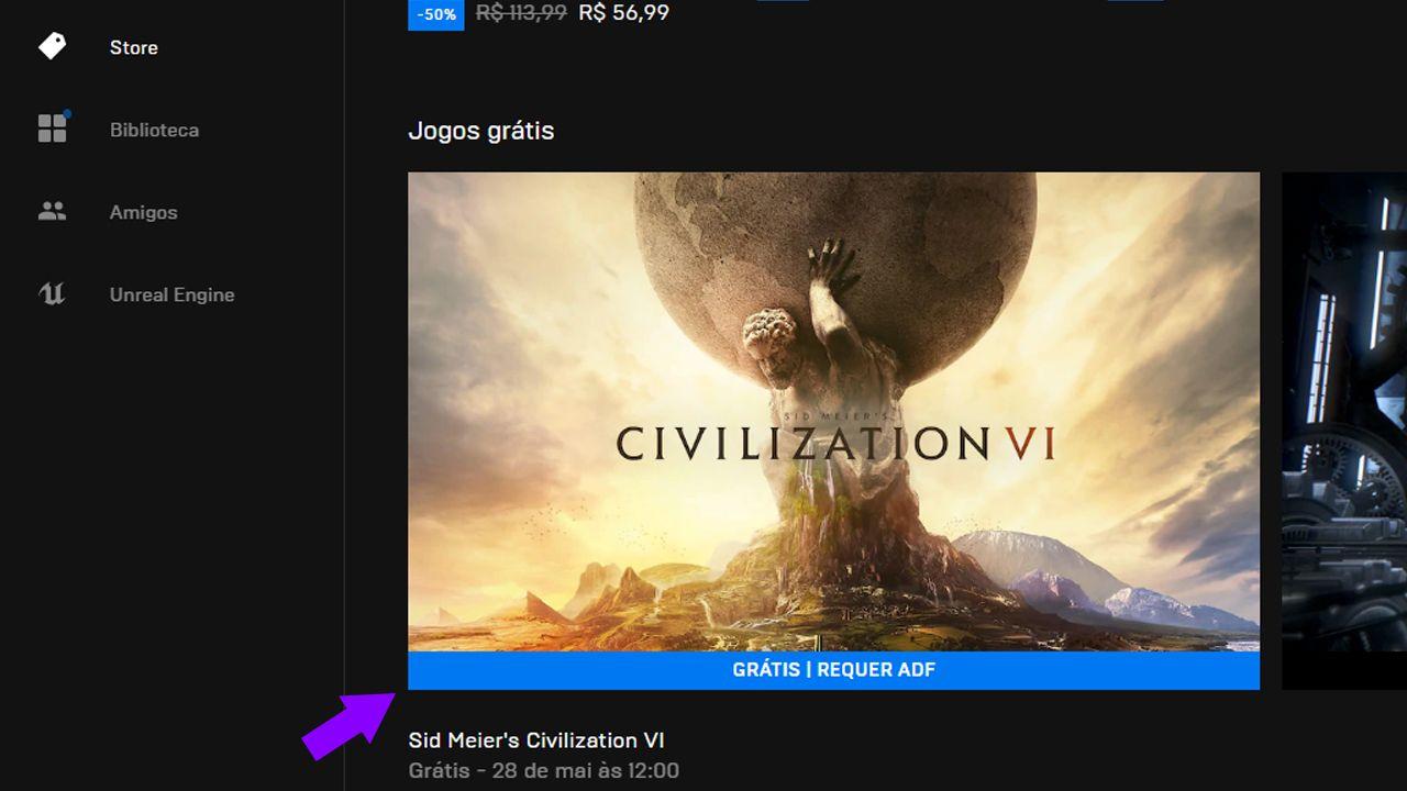 Resgate o Civilization VI de graça. (Foto: Reprodução/Murilo Tunholi)