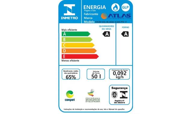 Selo A de eficiência energética do Agile Glass. (Imagem: Divulgação/Atlas)