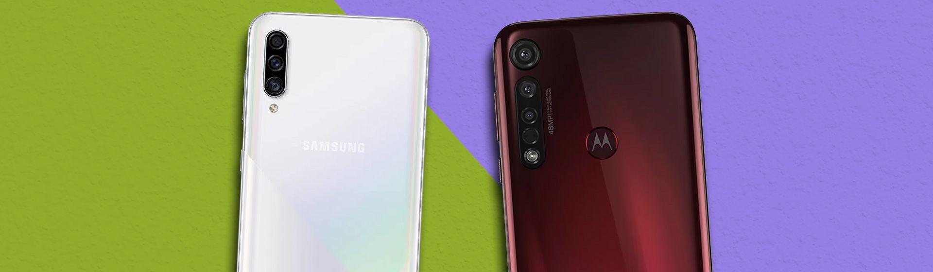 Galaxy A30s vs Moto G8 Plus: compare os celulares com câmera tripla