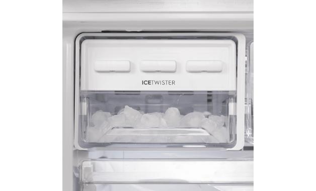 Recurso Ice Twister da geladeira French Door Inverse DM84X. (Imagem: Divulgação/Electrolux)