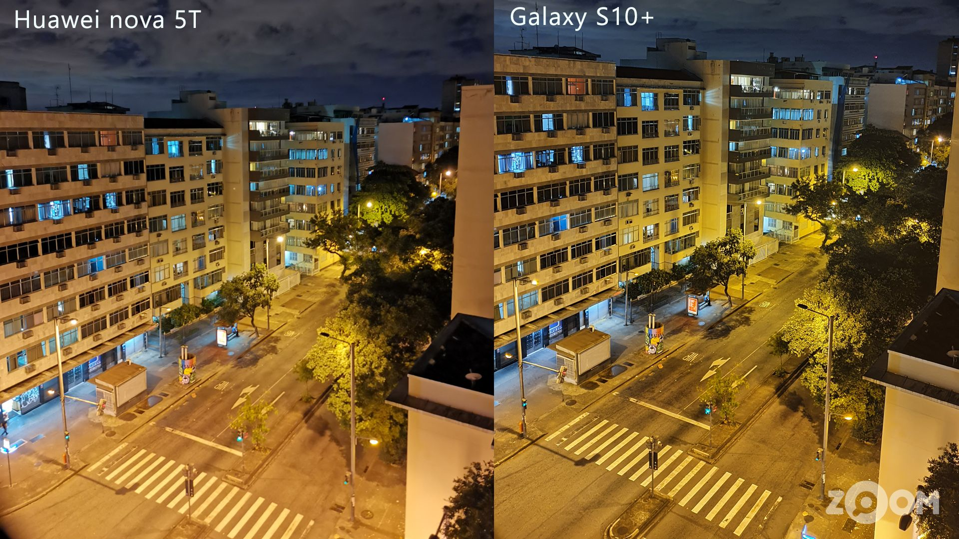 Modo Noturno: comparativo entre Huawei nova 5T e Galaxy S10+. (Imagem: Ana Marques/Zoom)
