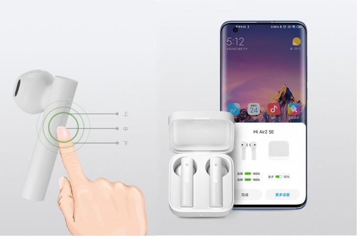 Mi AirDots 2 SE têm painel sensível ao toque nas hastes. (Imagem: Divulgação/Xiaomi)