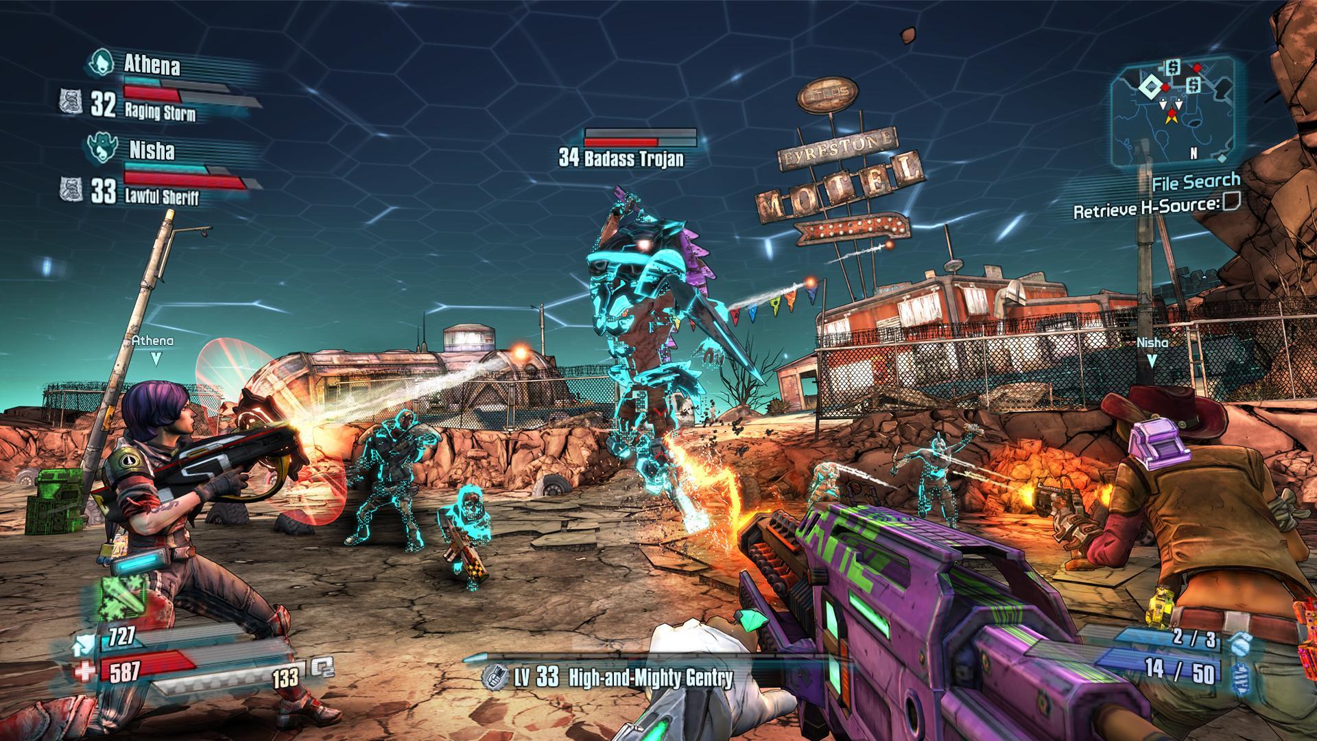 Borderlands 2 e The Pre-Sequel podem ser jogados por até quatro pessoas ao mesmo tempo. (Foto: Reprodução/Twitter/PlayStation)