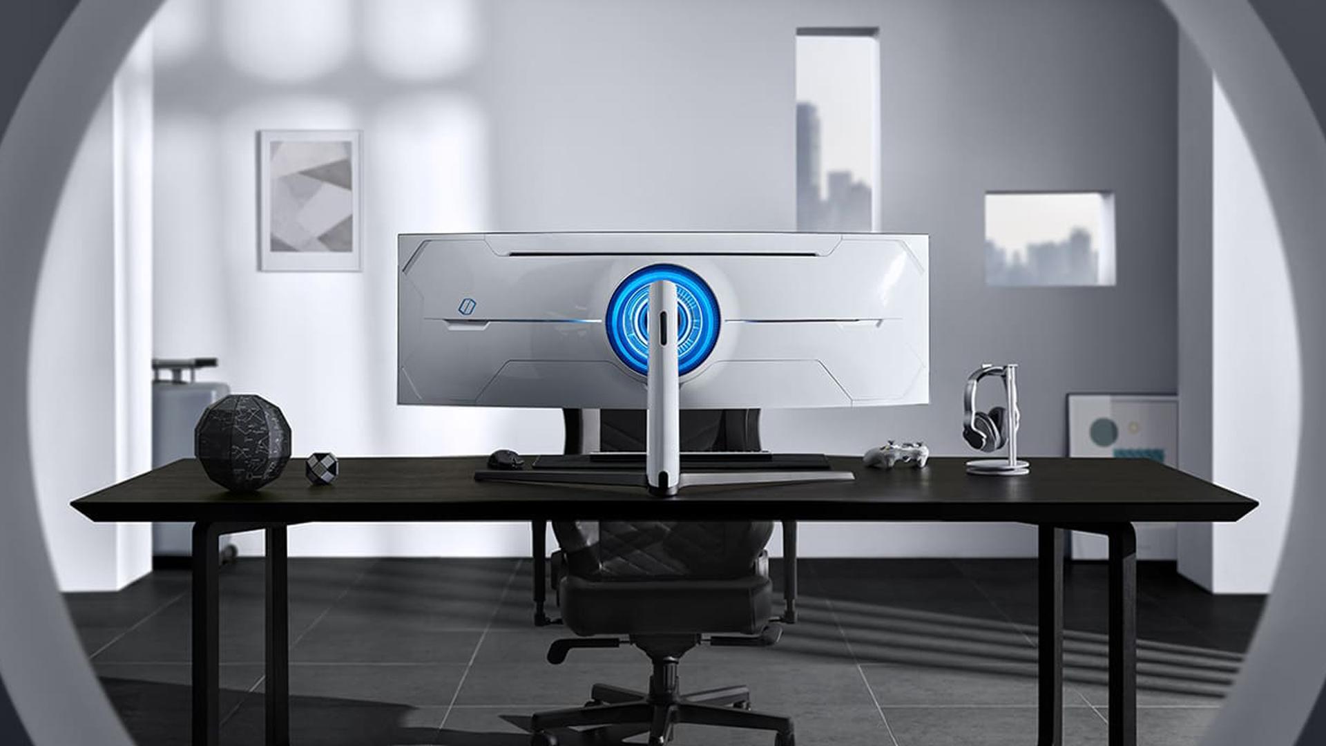<em>Odyssey G9 é possui tela de 49 polegadas (Foto: Divulgação/Samsung)</em>