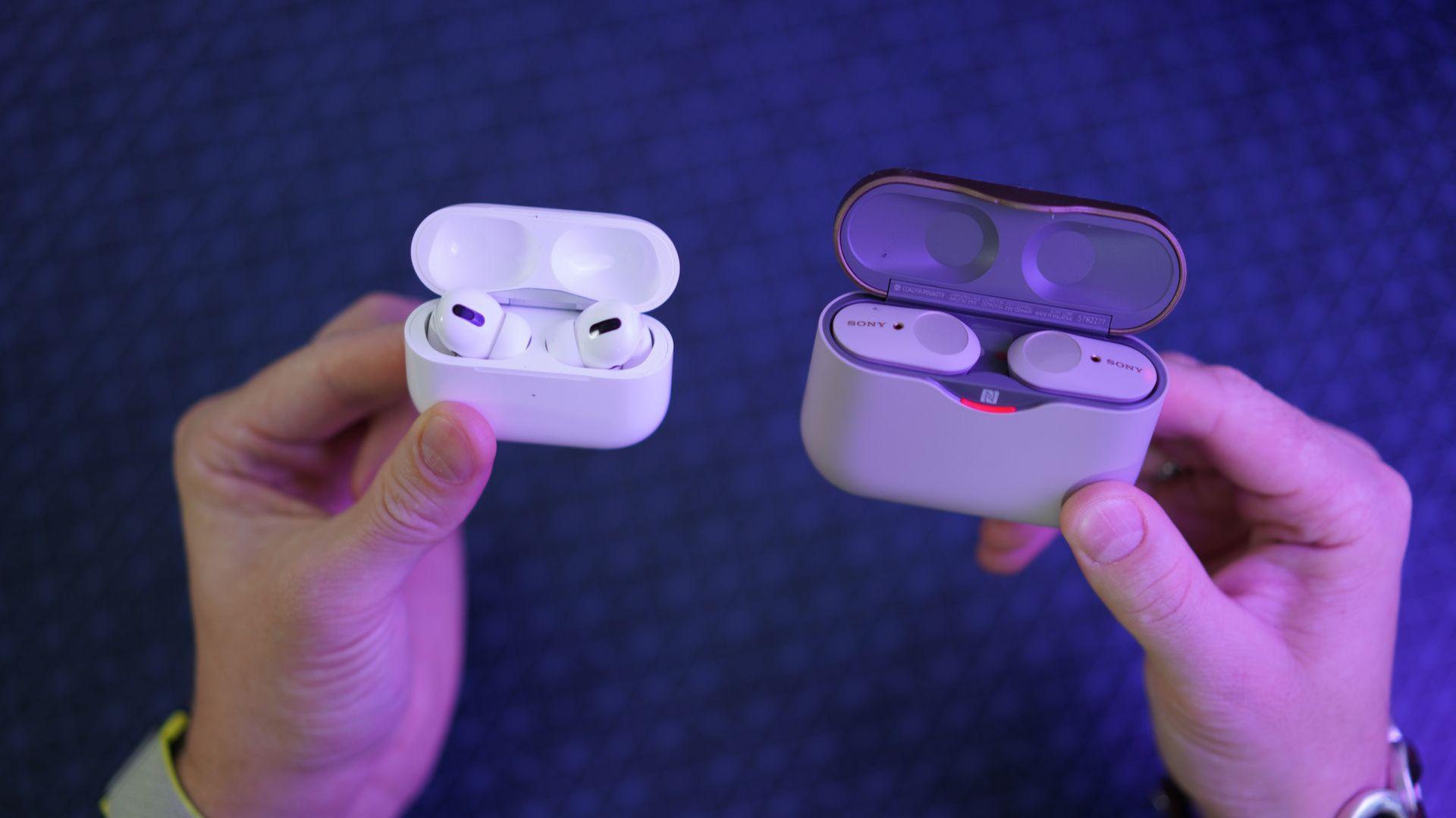 AirPods Pro e Sony WF-1000XM3 são os melhores fones de ouvido true wireless em 2020. (Imagem: Mr.Mikla/Shutterstock)