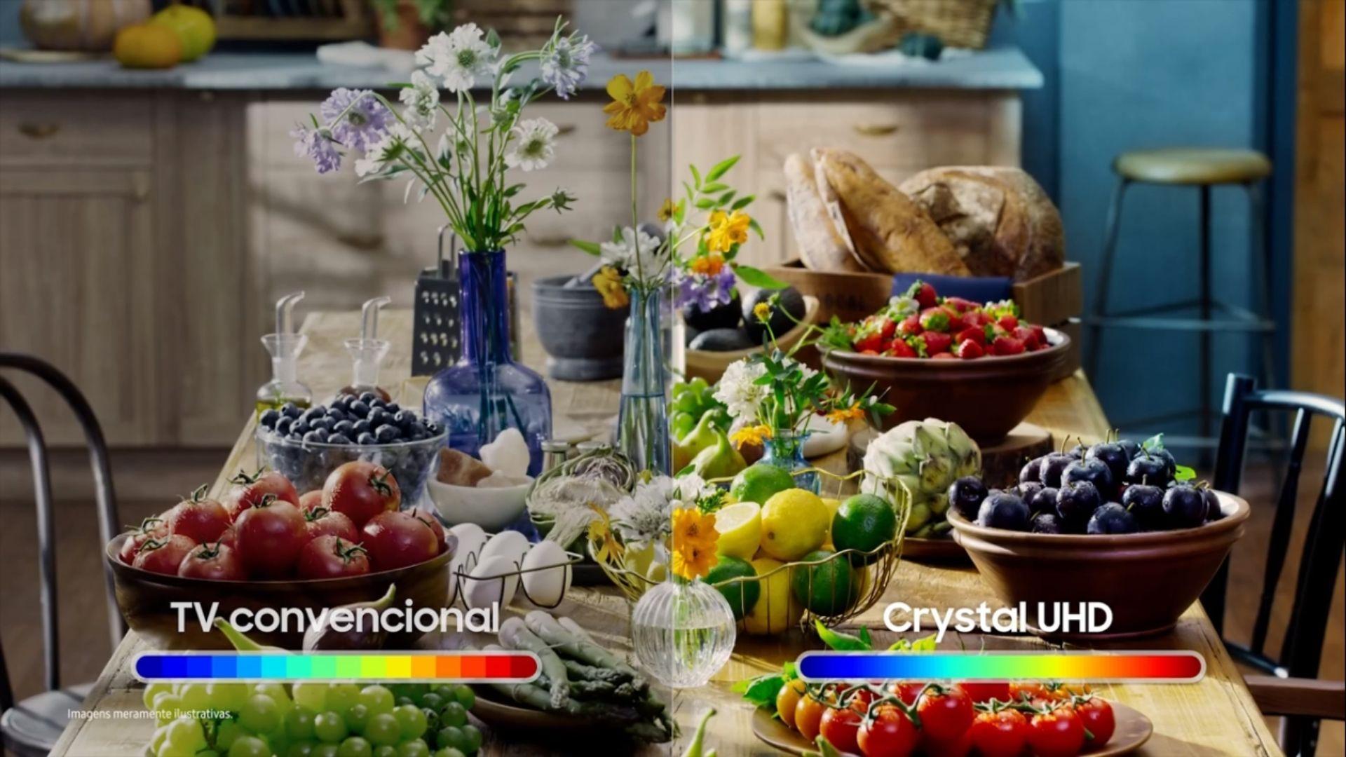Processador Crystal 4K é capaz de reproduzir imagens com cores mais voltadas para a realidade e maior contraste. (Imagem: Reprodução/Samsung)