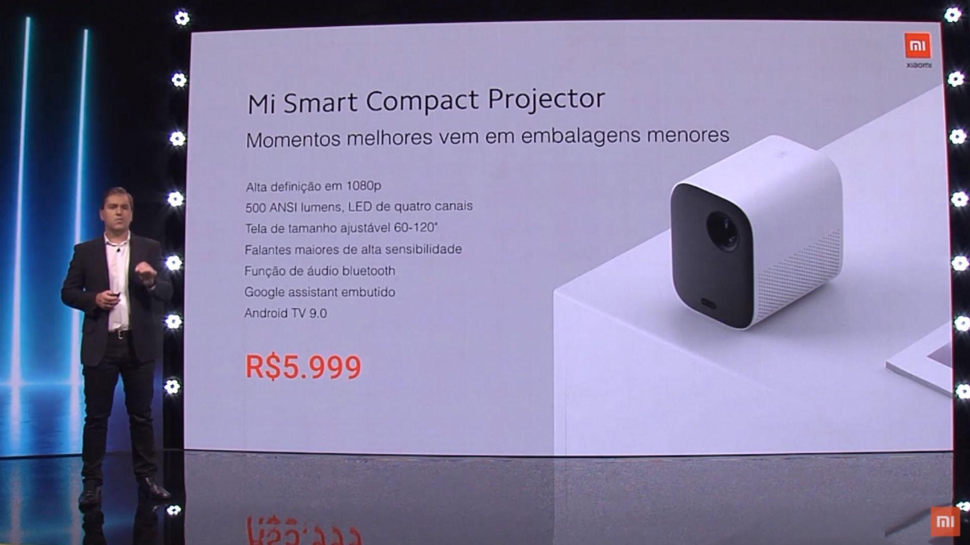 Ficha técnica do projetor Xiaomi Mi Smart Compact. (Imagem: Divulgação/Xiaomi)
