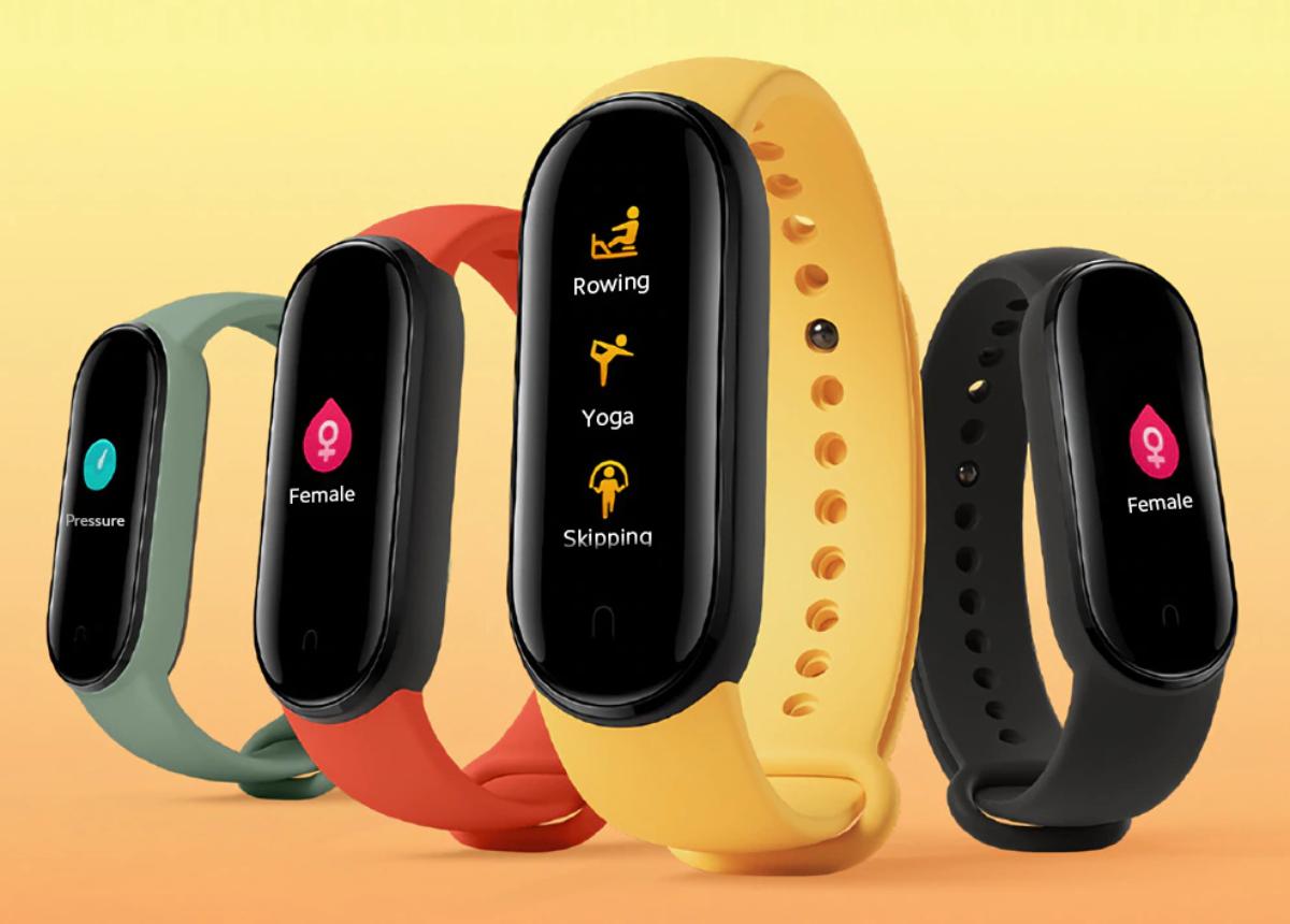 Xiaomi Mi Band 5 conta monitoramento de ciclo menstrual. (Imagem: Divulgação/Xiaomi)