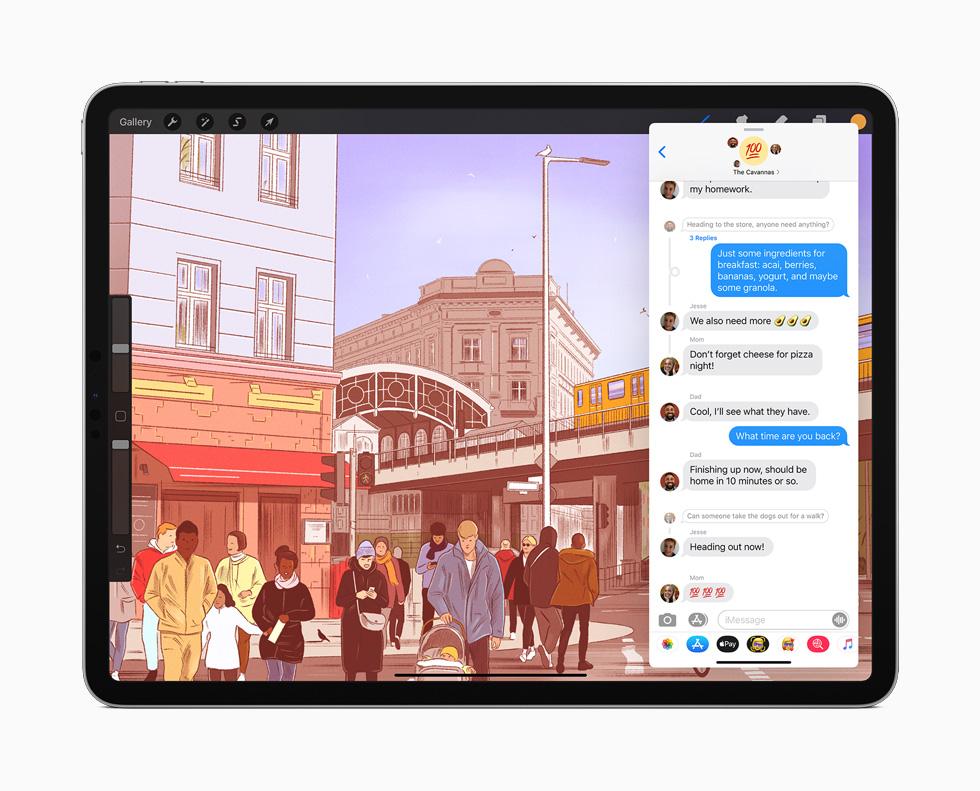 iPadOS 14 é a nova versão do sistema da Apple para tablets. (Imagem: Divulgação/Apple)