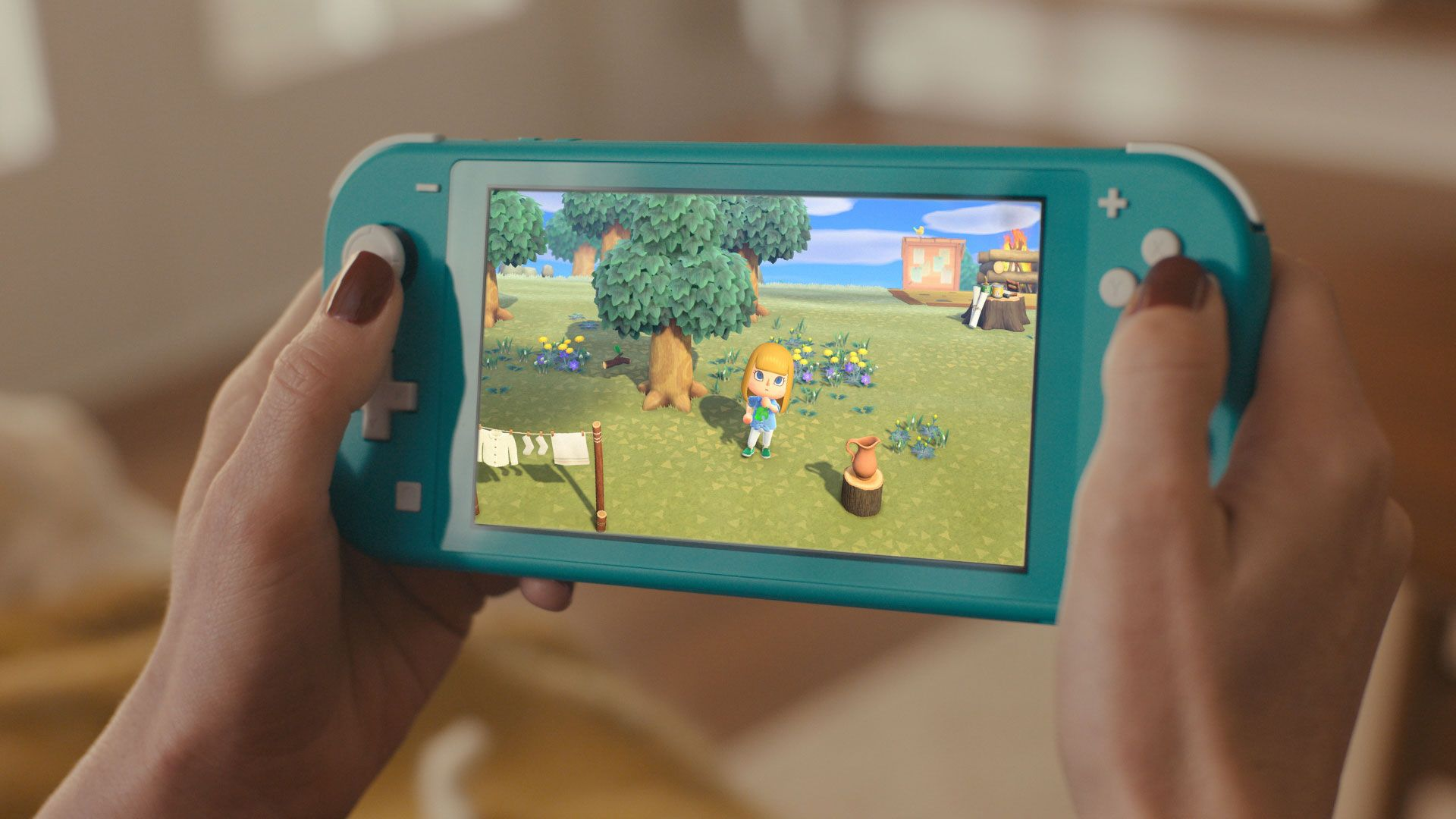 Nintendo Switch Lite é uma opção mais barata, mas com menos recursos. (Foto: Reprodução/Nintendo)