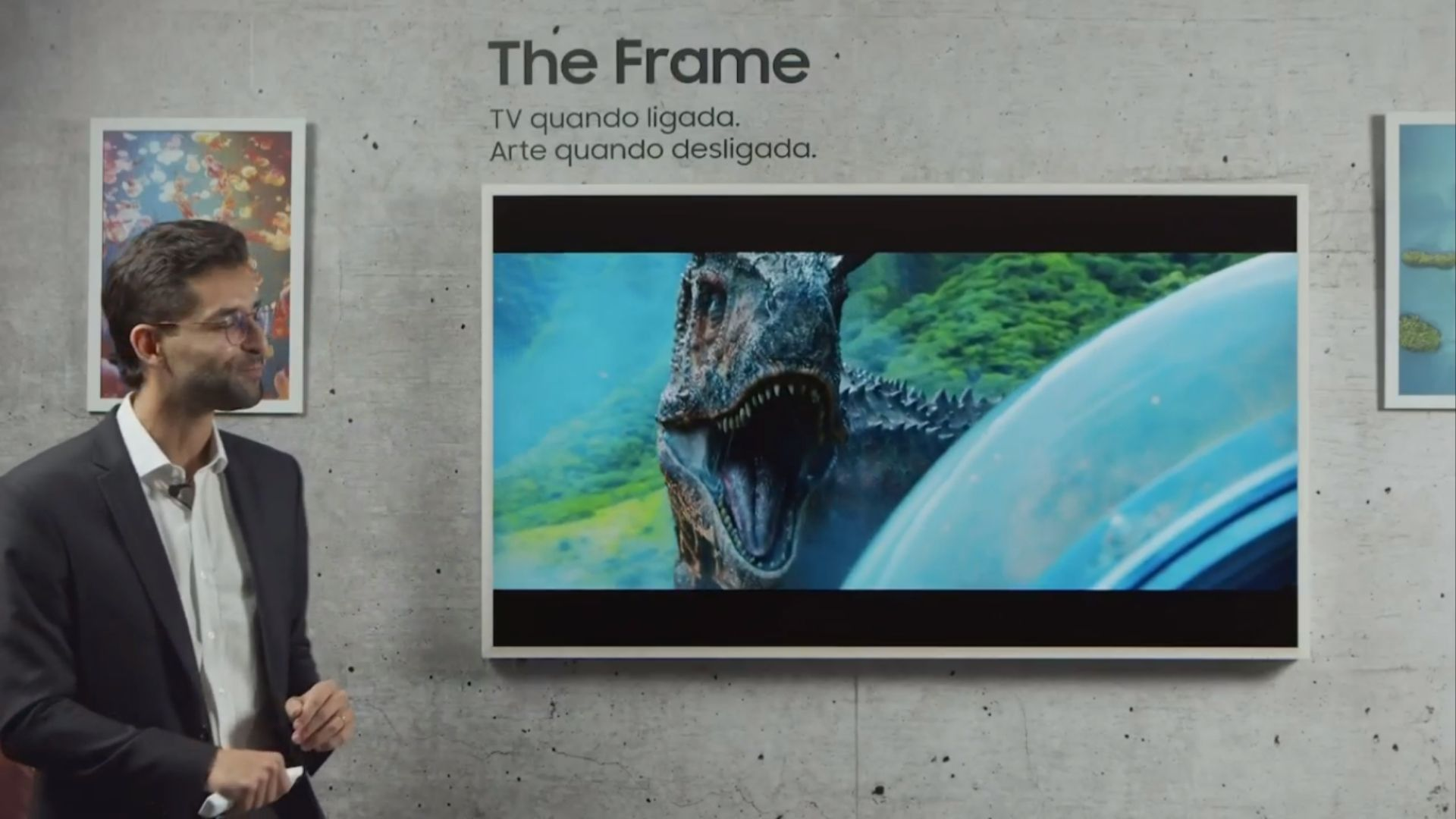 Samsung The Frame 2020 chega com uma vasta biblioteca de obras de arte, para decorar sua casa. (Imagem: Reprodução/Samsung)