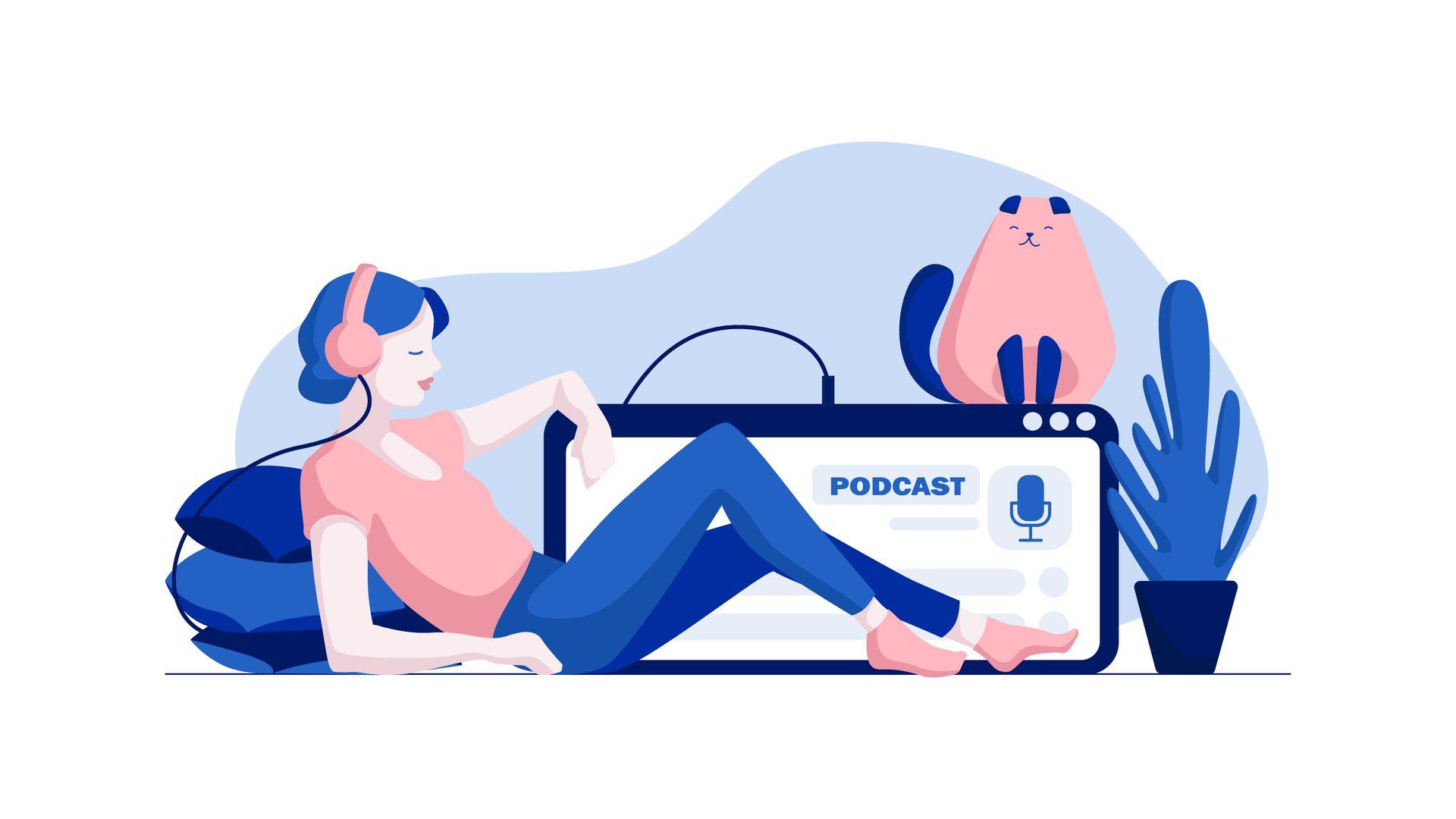 Entenda o que é podcast. (Imagem: kubekinair/Shutterstock)