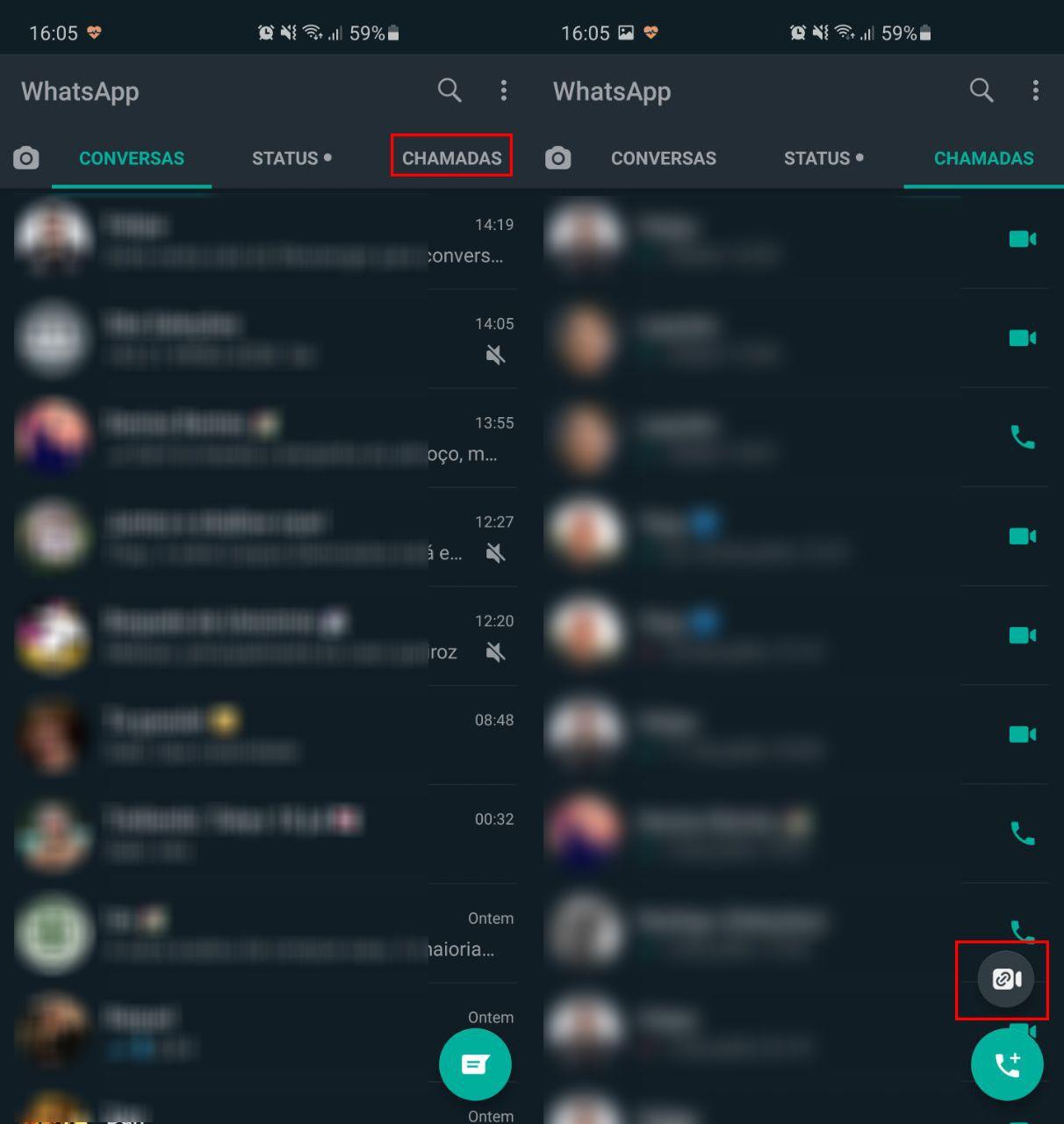 Acessando o Messenger Rooms pelo WhatsApp. (Imagem: Reprodução/Ana Marques)