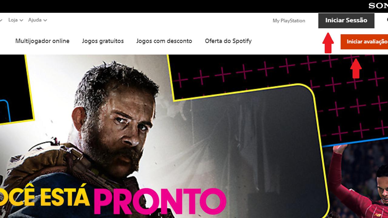 Entre no site da PlayStation Store. (Foto: Reprodução/Bruno Caron)