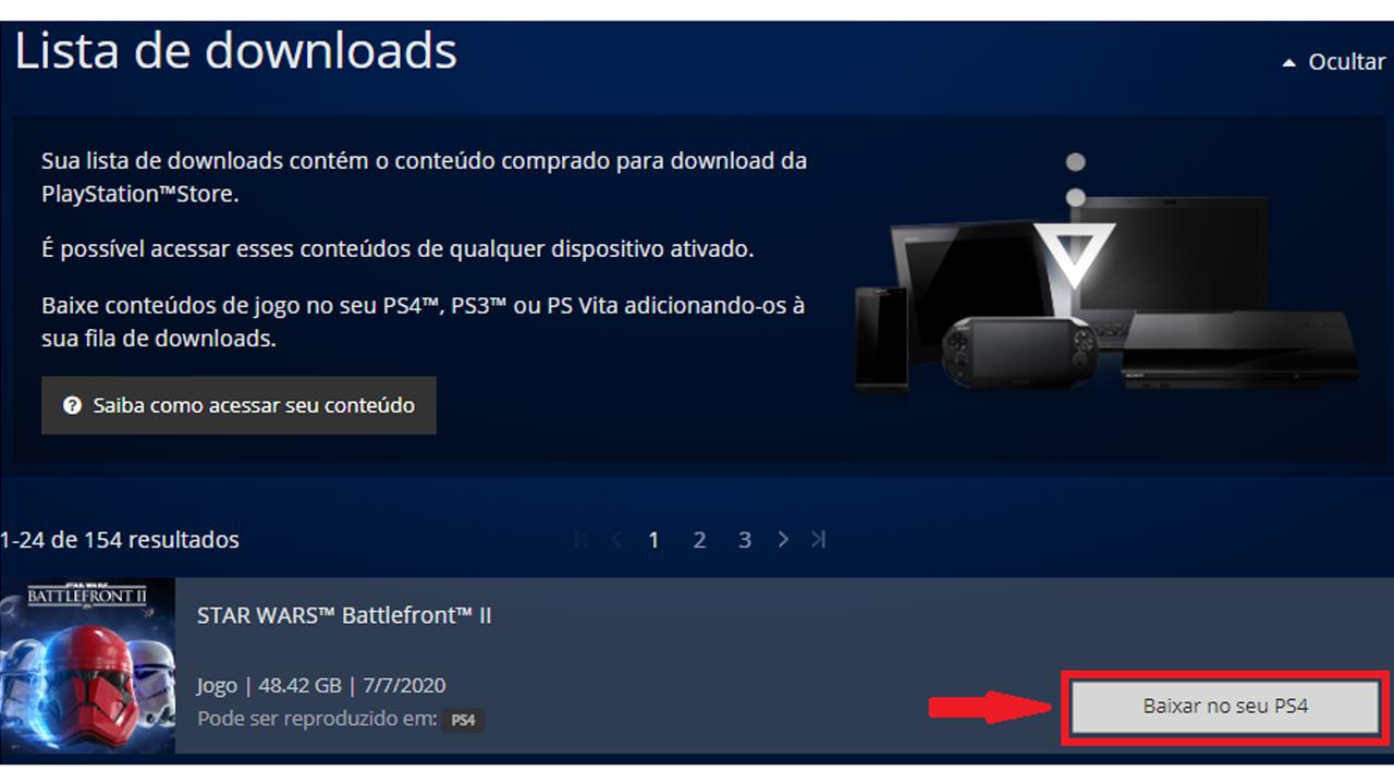 Baixe o jogo diretamente no PS4. (Foto: Reprodução/Bruno Caron)