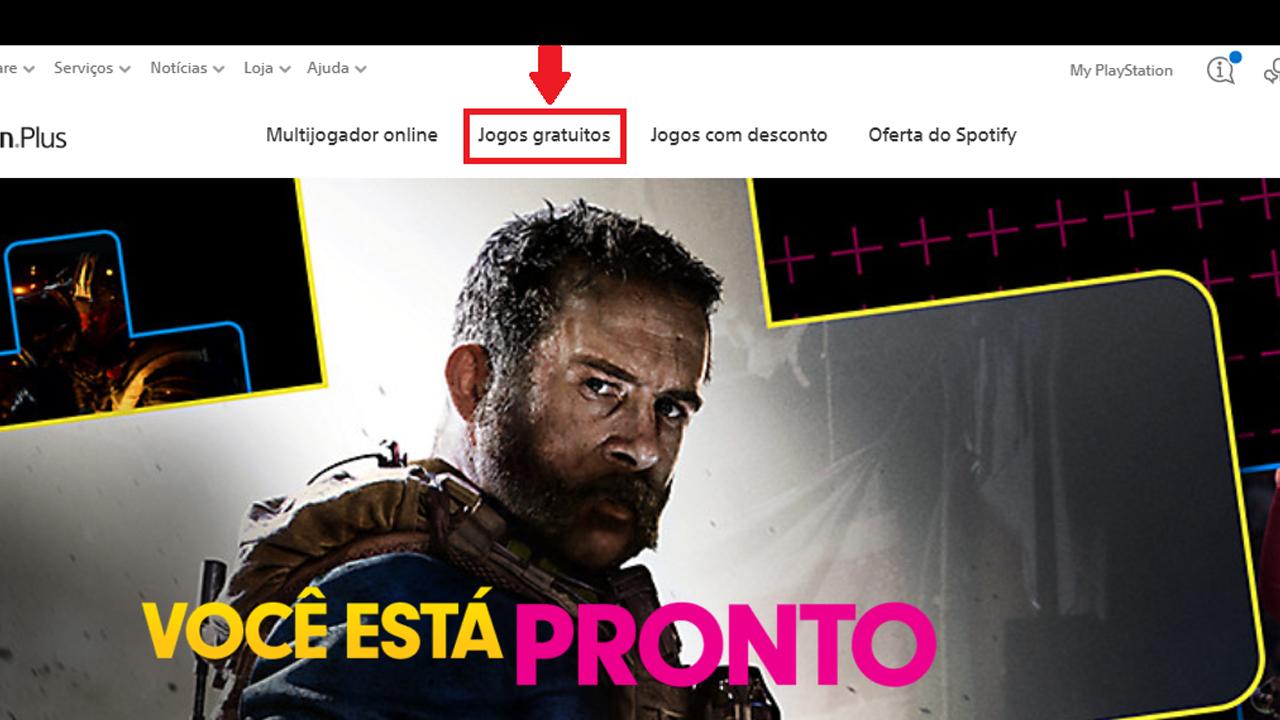 Acesse a página de jogos gratuitos da PS Plus. (Foto: Reprodução/Bruno Caron)