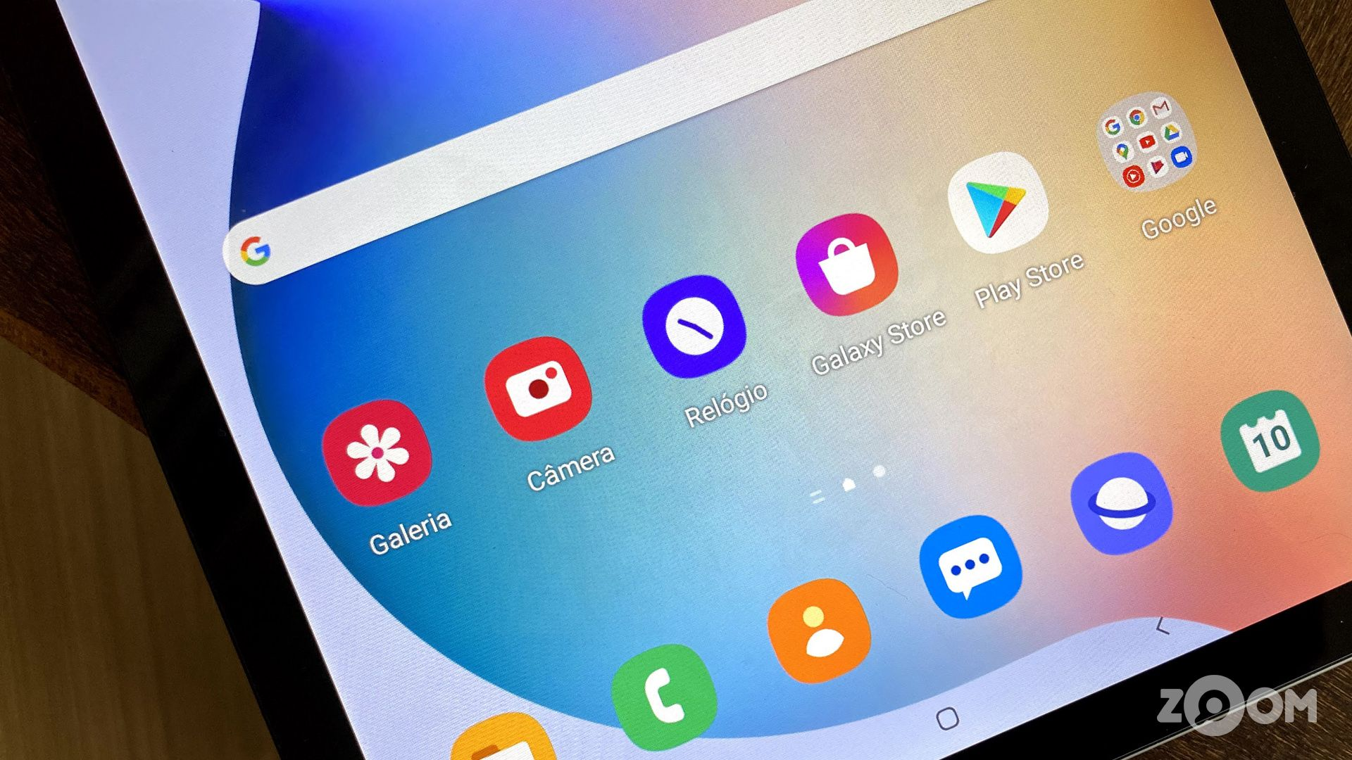 Apps na tela do Galaxy Tab S6 Lite. (Imagem: Ana Marques/Zoom)