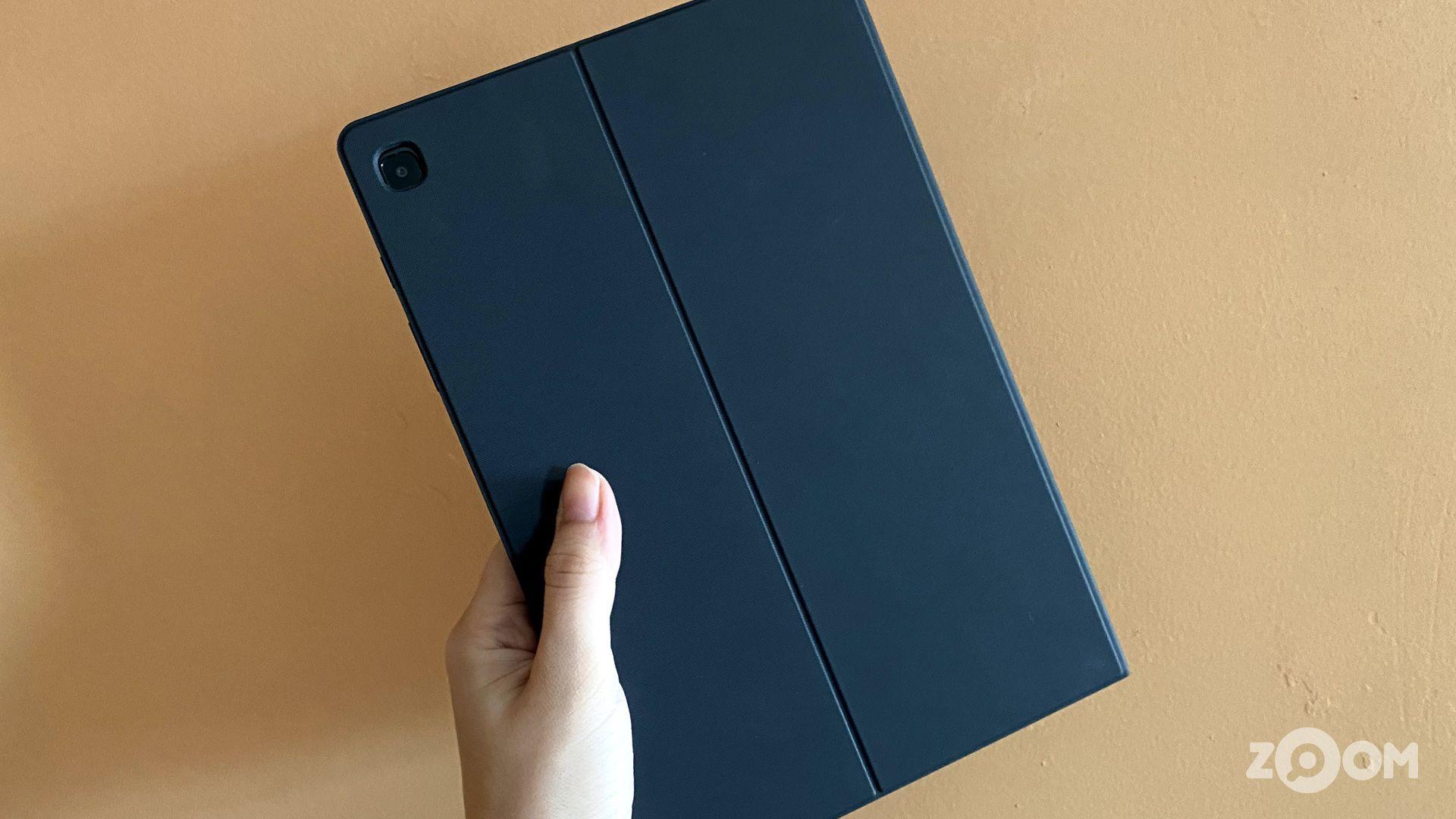 Capa do Galaxy Tab S6 Lite. (Imagem: Ana Marques/Zoom)