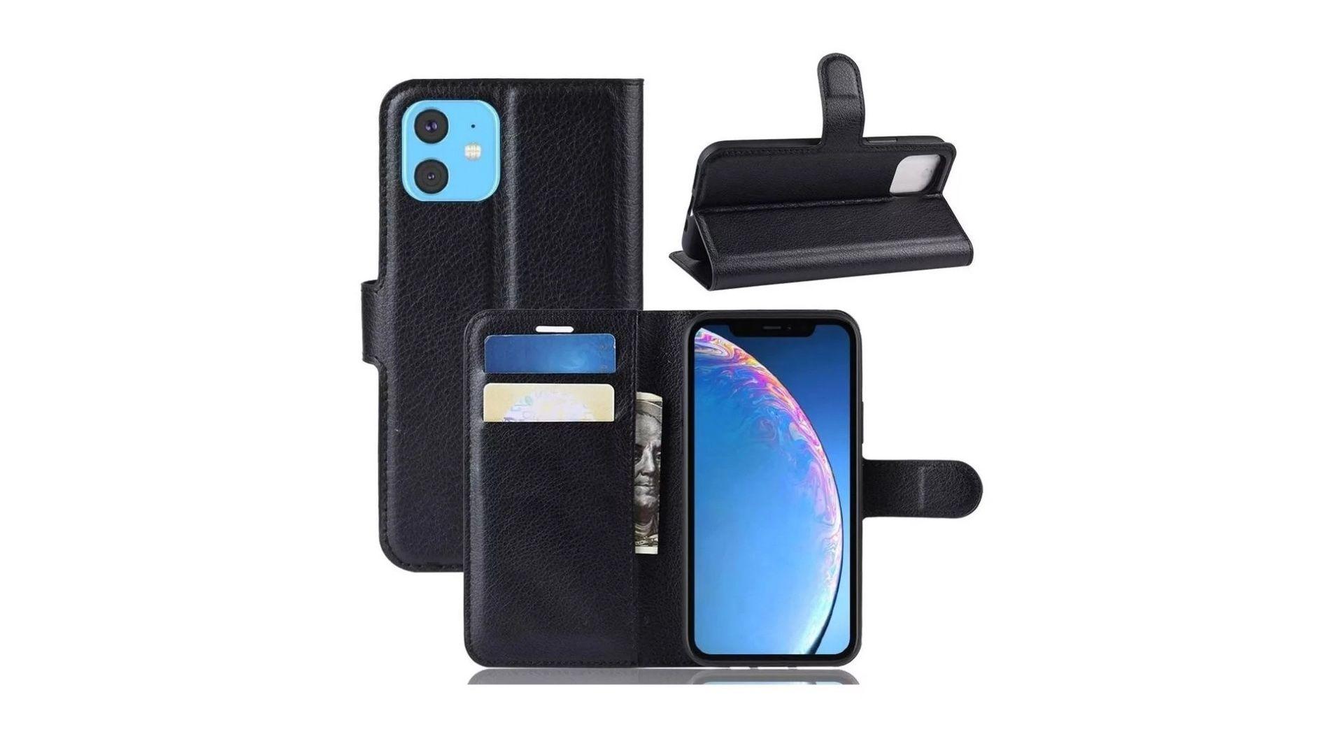 Capa-carteira para iPhone 11 permite guardar dinheiro e cartões junto ao celular. (Imagem: Reprodução)