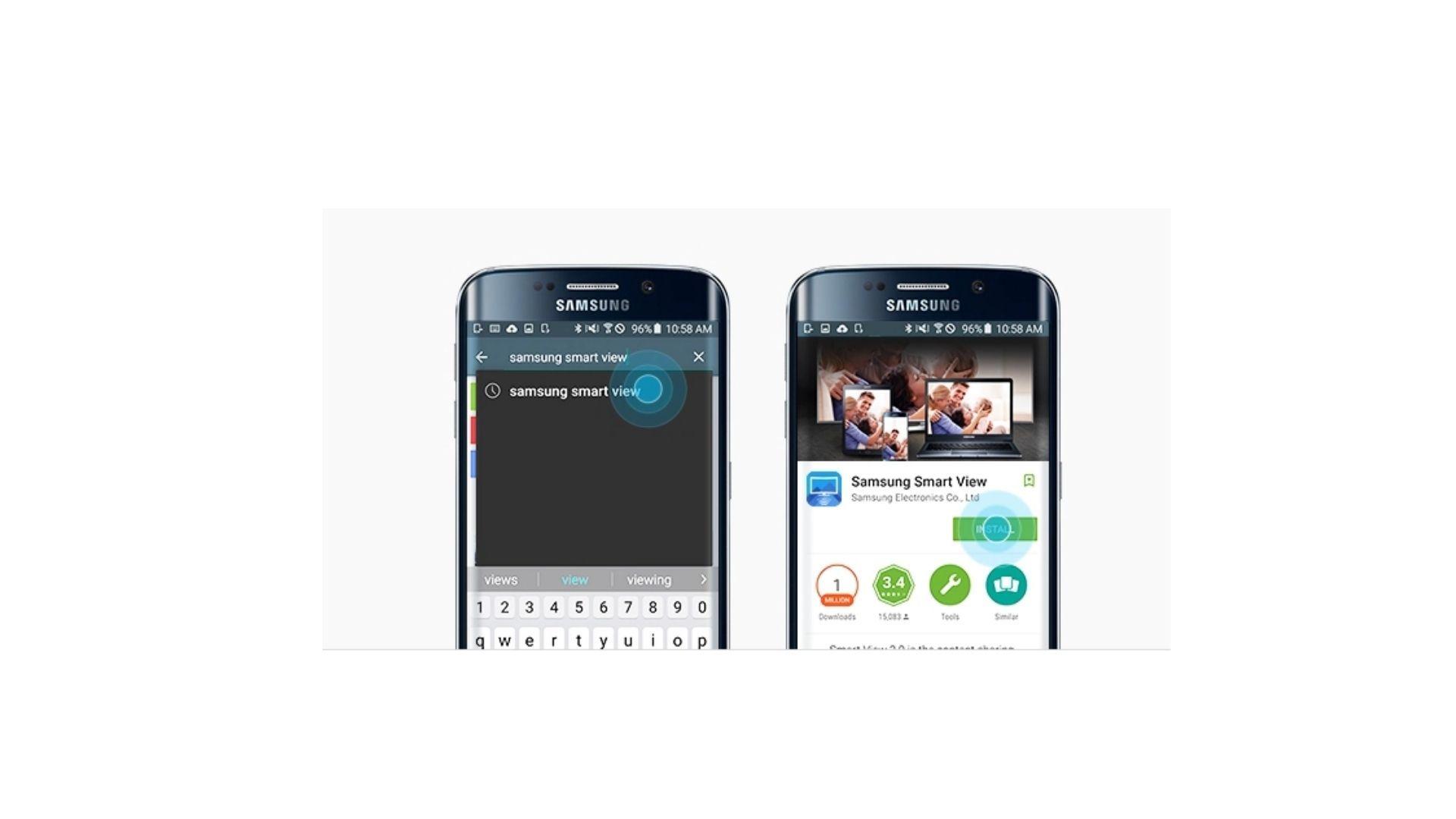 """A app """"Smart View"""" está disponível na loja de aplicativos do seu celular (Foto: Divulgação/Samsung)"""