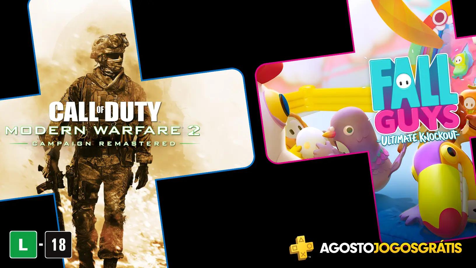 Call of Duty: Modern Warfare 2 e Fall Guys: Ultimate Knockout são os jogos grátis da PS Plus de agosto. (Foto: Reprodução/PlayStation Blog)