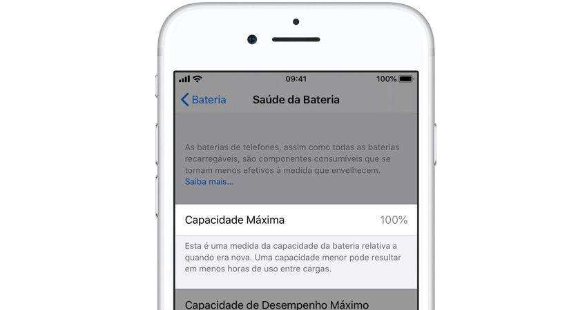 iOS tem recurso nativo para verificar a saúde da bateria do iPhone. (Imagem: Reprodução/Apple)