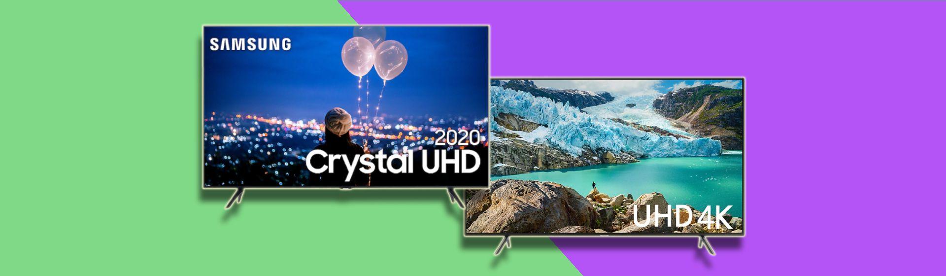 TV Samsung TU8000 vs RU7100: o que mudou de uma geração para outra?