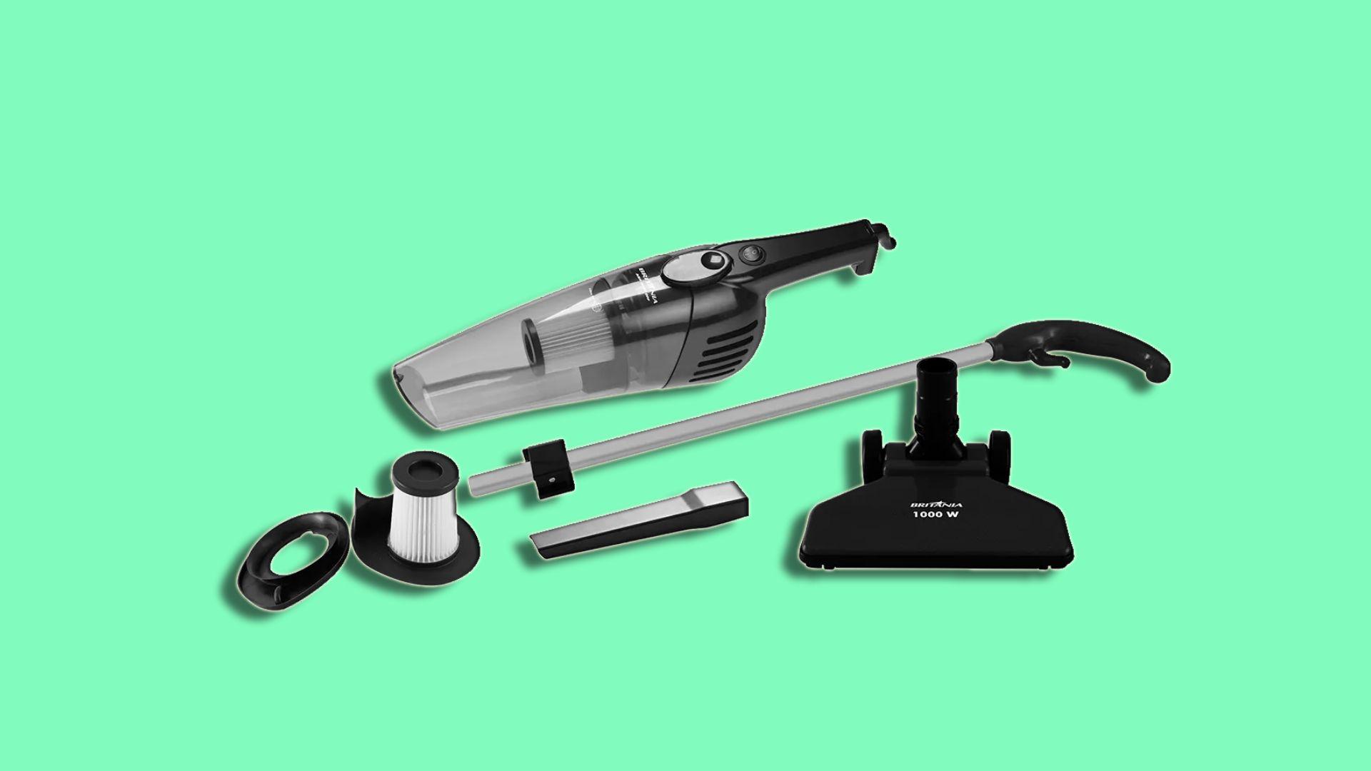 O aspirador de pó Britânia vem com alguns bocais que facilitam a limpeza de diversos ambientes da casa. (Imagem: Divulgação/Britânia)