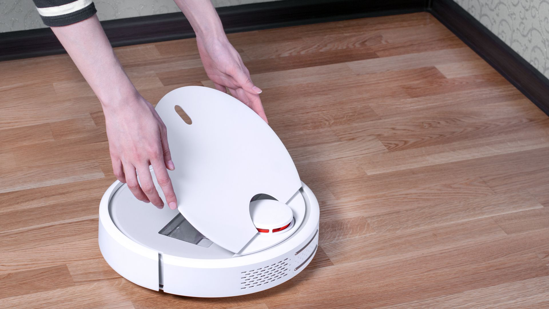 Aspiradores robô têm menor capacidade de armazenamento e demandam limpezas mais frequentes (Imagem: Shutterstock/Andrey Bryzgalov)