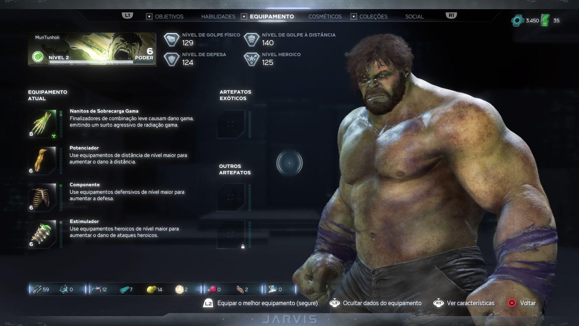 Marvel's Avengers tem sistema de customização de habilidade e equipamentos. (Foto: Murilo Tunholi/Zoom)
