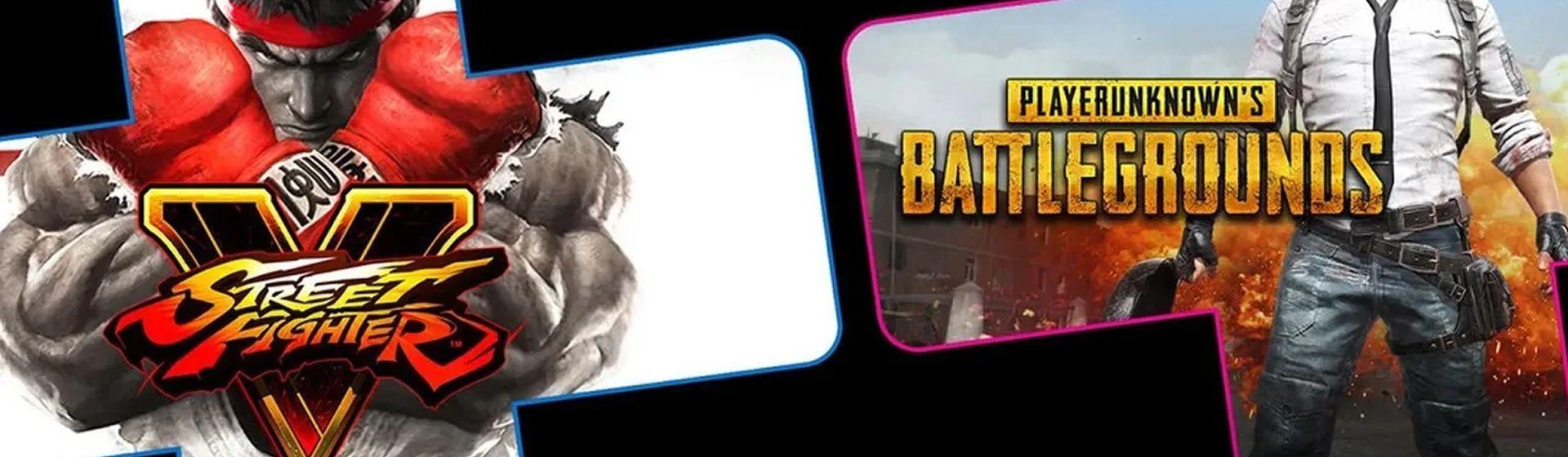 PUBG e Street Fighter V são os jogos grátis da PS Plus de setembro