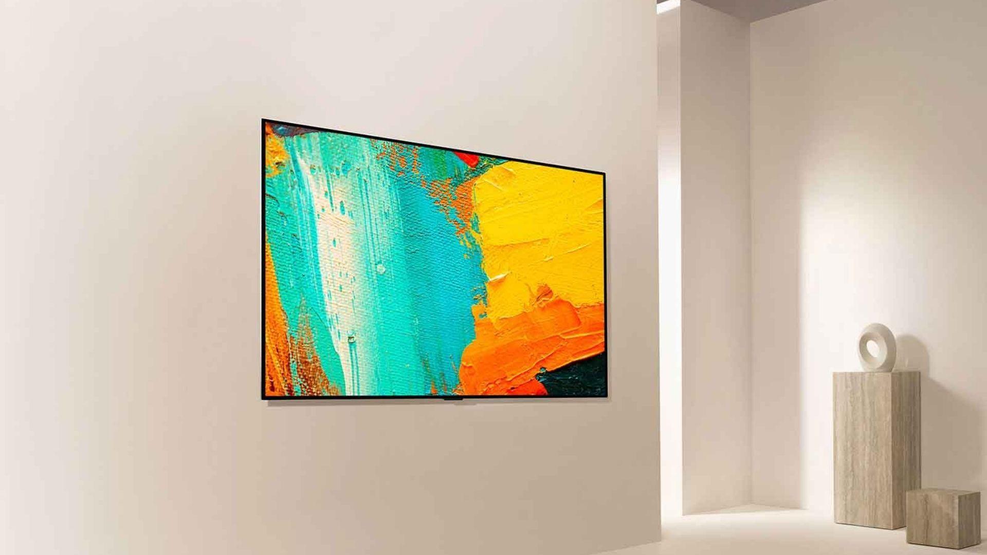 TV LG OLED GX pode ser utilizada em diferentes ambientes tanto como TV quanto como obra de ar. (Imagem: Divulgação/LG)