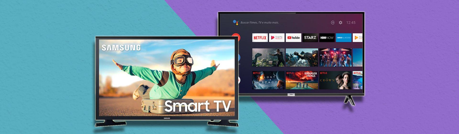 Samsung T4300 vs TCL S6500: quais as diferenças entre essas TVs de 32 polegadas?