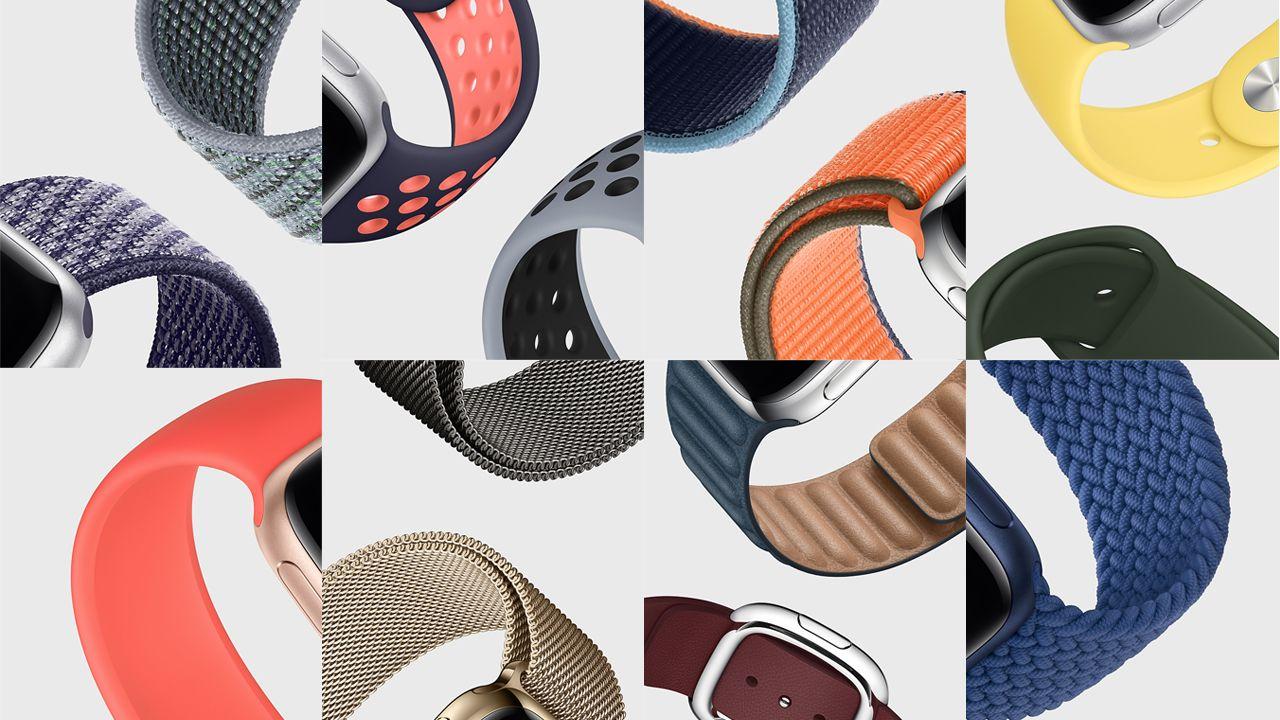 Diferentes pulseiras disponíveis para o Apple Watch 6 (Foto: Divulgação/Apple)