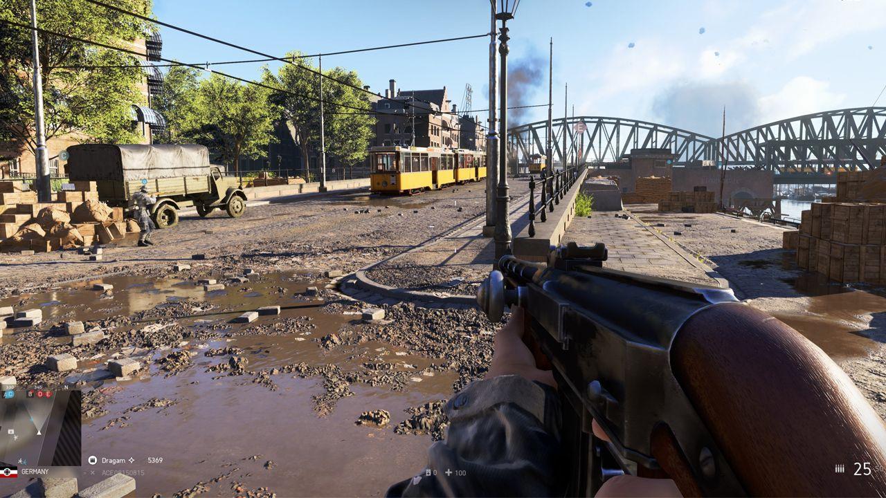 O Battlefield 5 roda no Ultra com mais de 100 FPS nas duas placas de vídeo. (Foto: Reprodução//Battlefield 5)