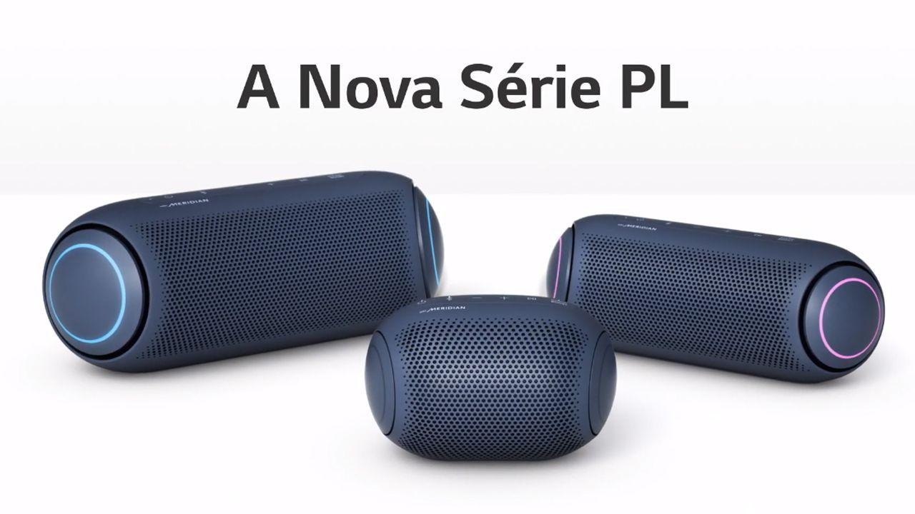 Nova série de caixas de som portáteis Xboom PL, da LG (Foto: Divulgação/LG)