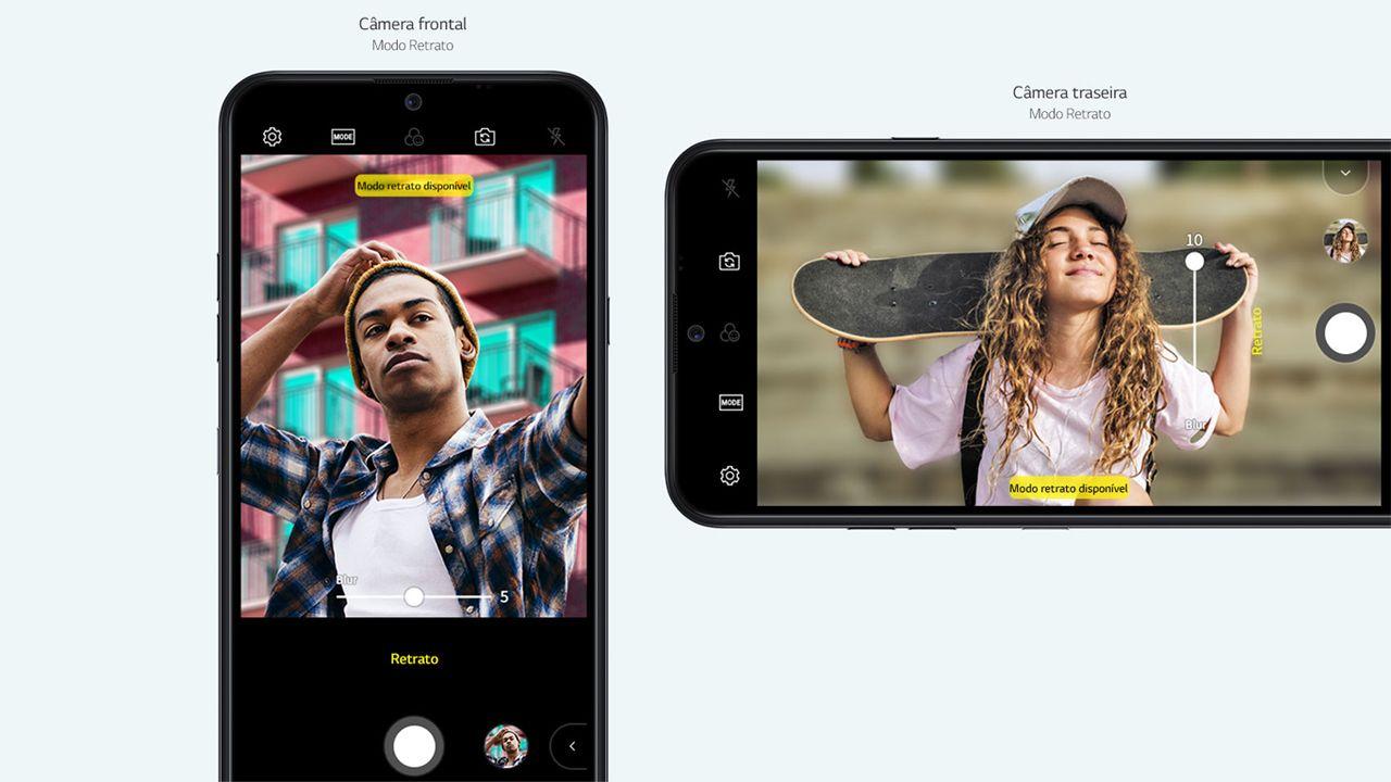 A LG destaca o uso do modo retrato na câmera traseira e frontal de seu aparelho (Foto: Divulgação/LG)