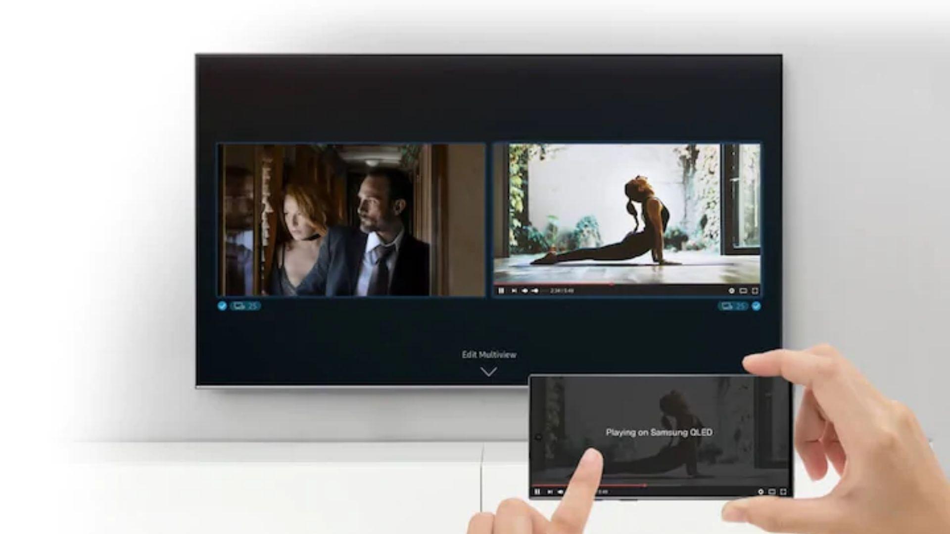 Samsung traz a função Multi Tela nesta smart TV top de linha. (Imagem: Divulgação/Samsung)