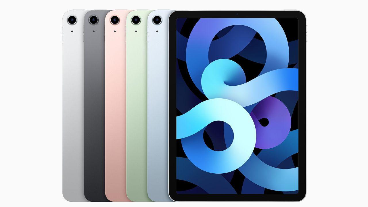 Design e opções de cores do iPad Air de quarta geração (Foto: Divulgação/Apple)