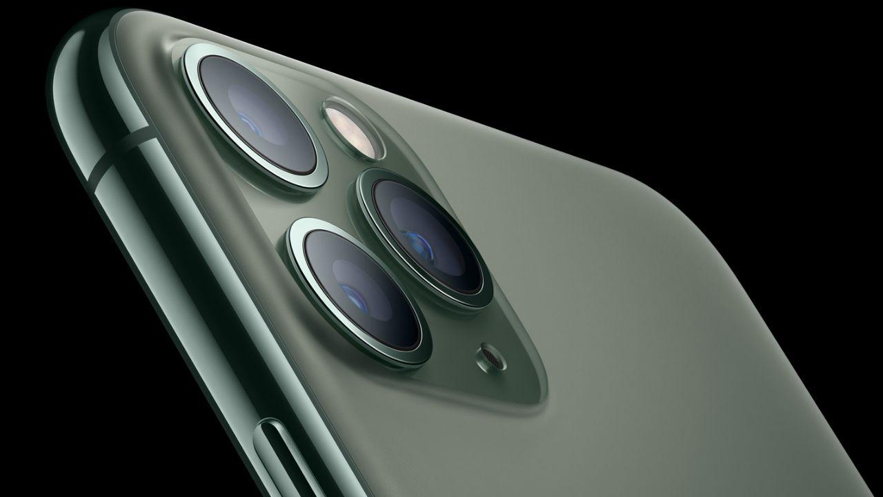 Conjunto triplo de câmeras do iPhone 11 Pro Max (Foto: Divulgação/Apple)